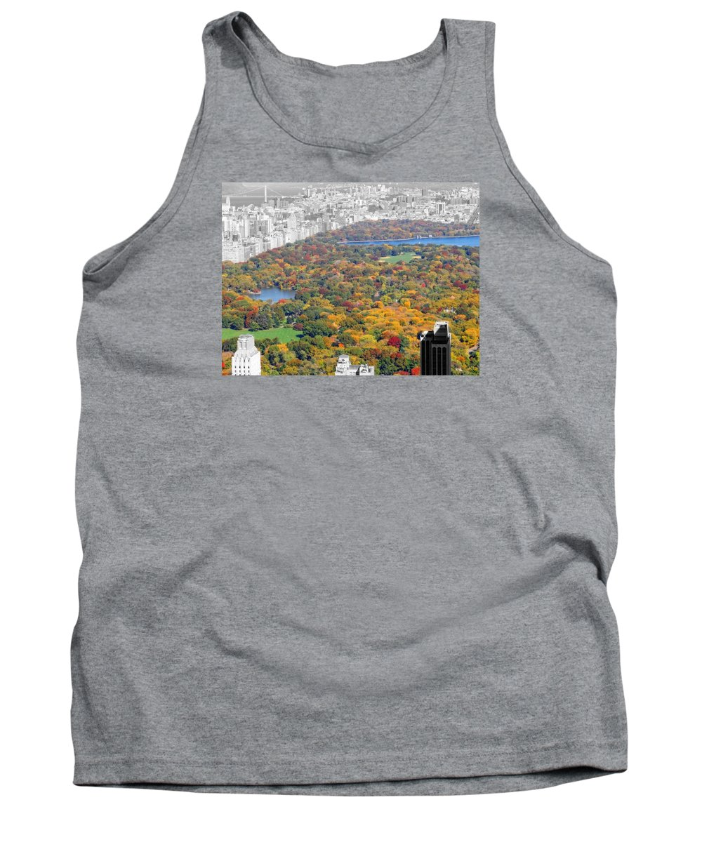 October View Of Central Park Tank Top featuring the photograph Colors Of Central Park by Dan Sproul