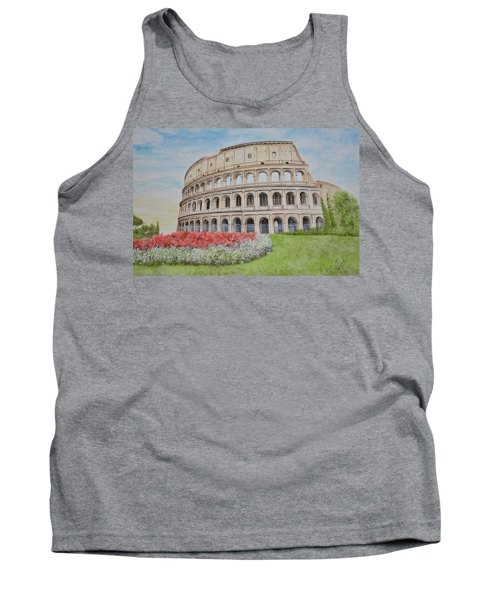 Colosseum Tank Top featuring the painting Colosseum by Swati Singh