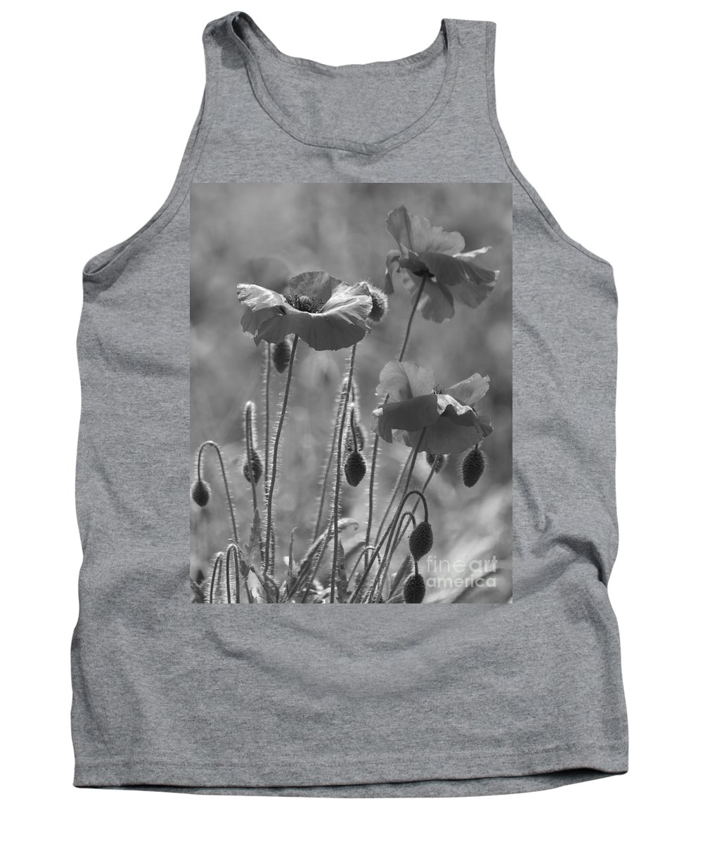 Poppies Tank Top featuring the photograph Colour Blind Poppies 1 by Carol Lynch