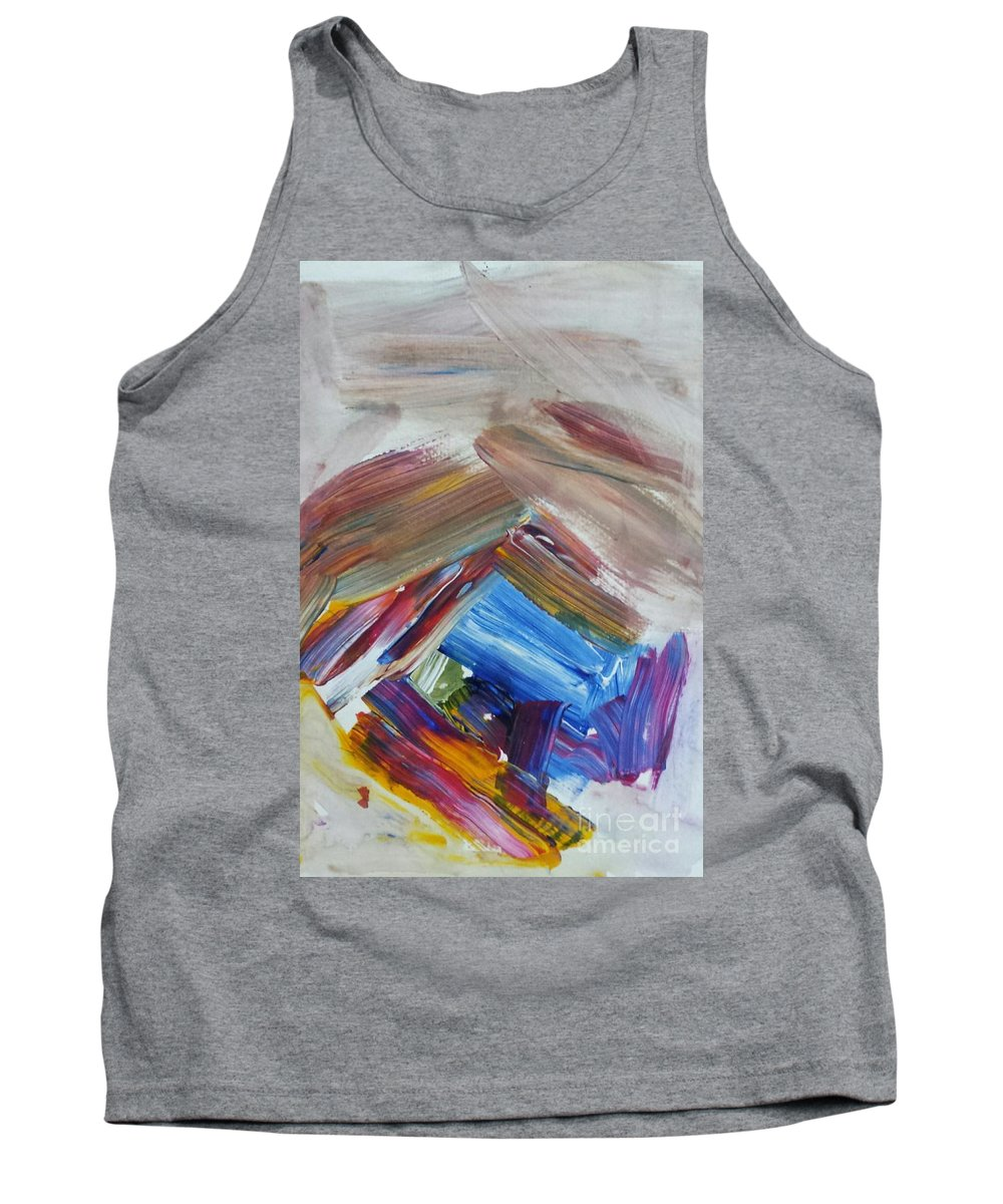 Abstract Tank Top featuring the painting Coming Out by Sherry Harradence