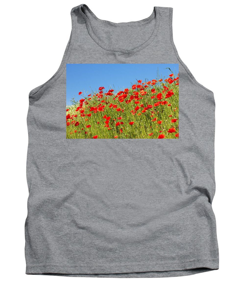Poppy Tank Top featuring the photograph Common Poppy Flowers by Jaroslav Frank