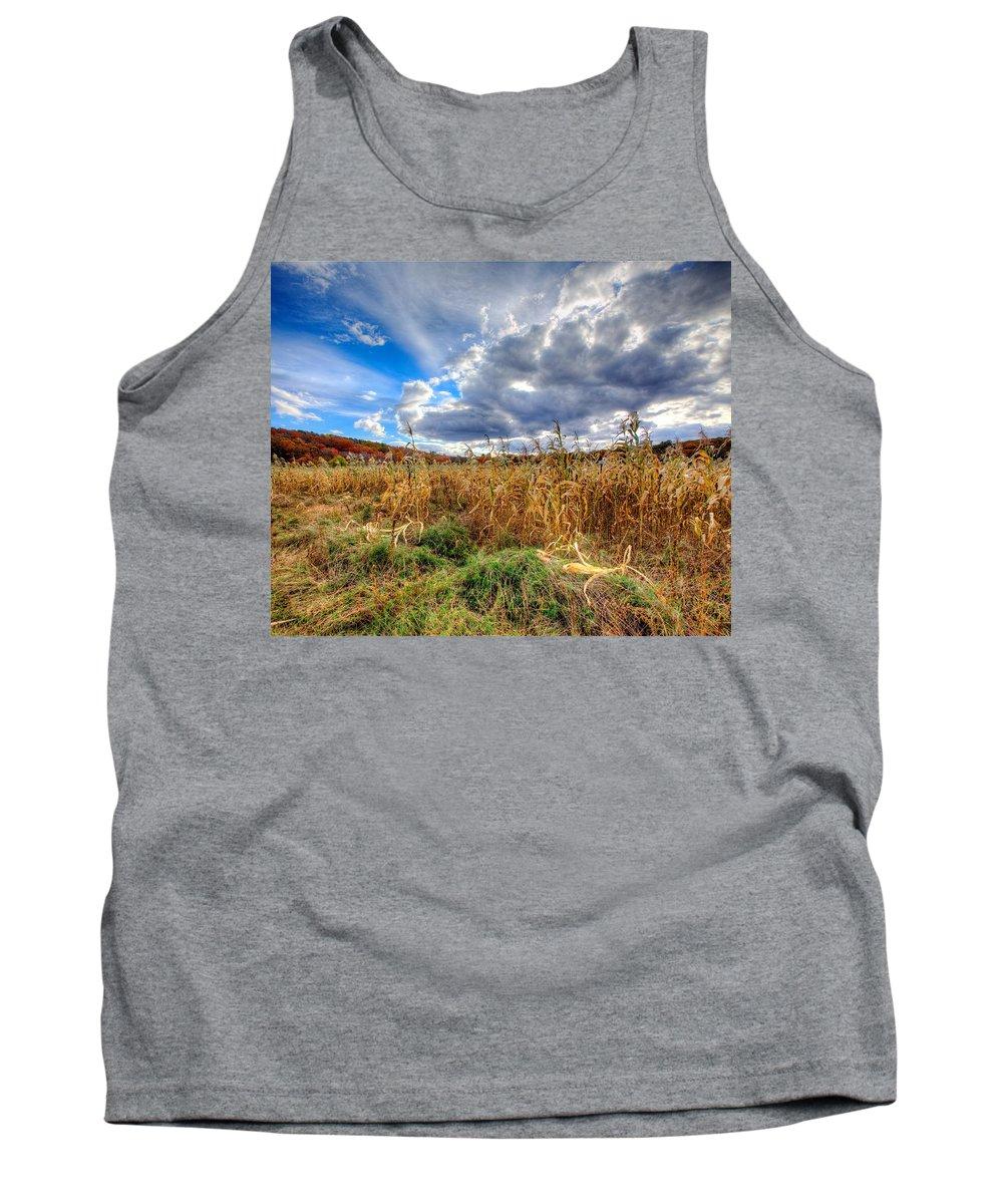 Corn Field Tank Top featuring the photograph Corn Field by Stas Burdan
