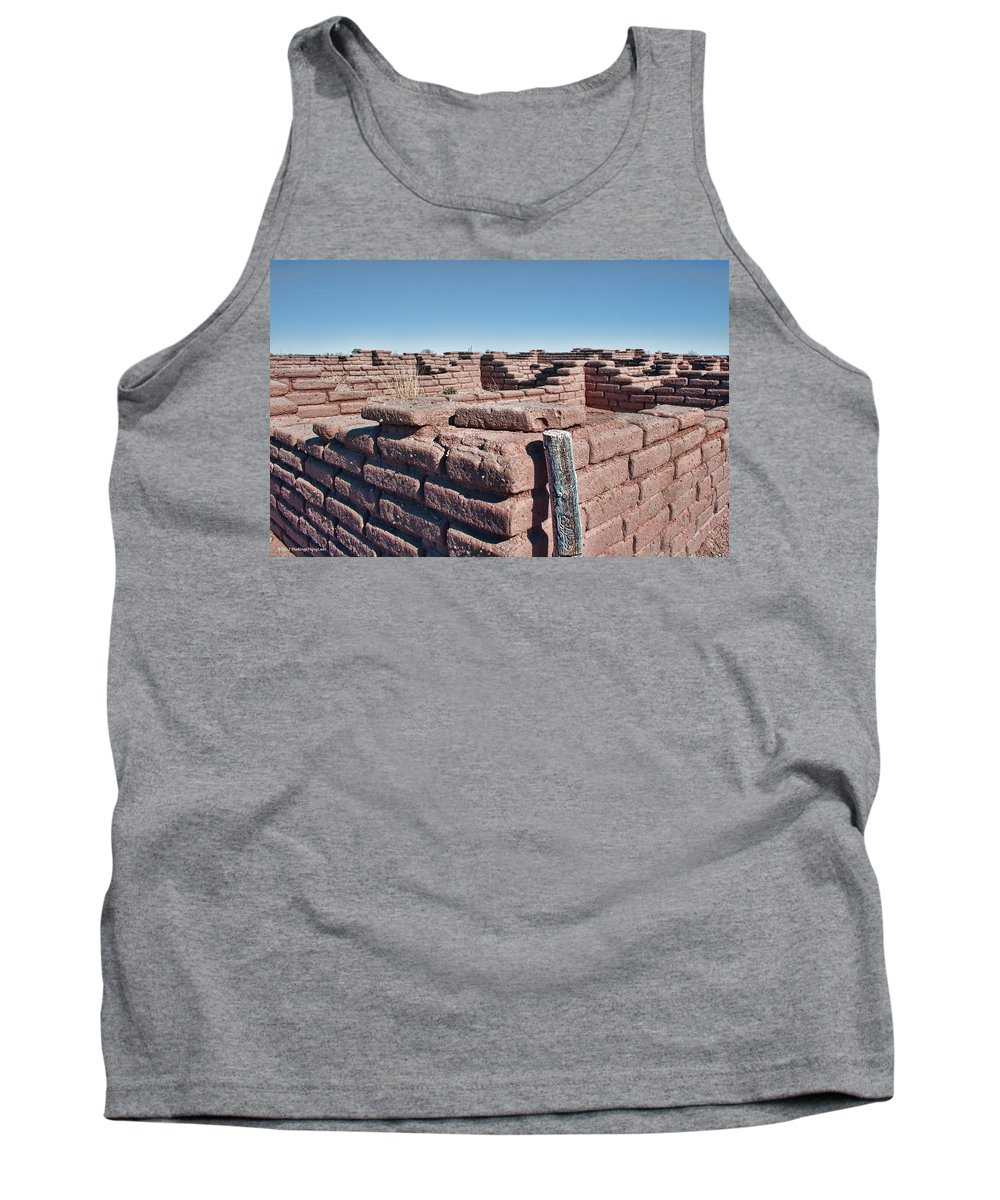 Southwest Tank Top featuring the photograph Coronado Monument Adobe Walls by Brian King