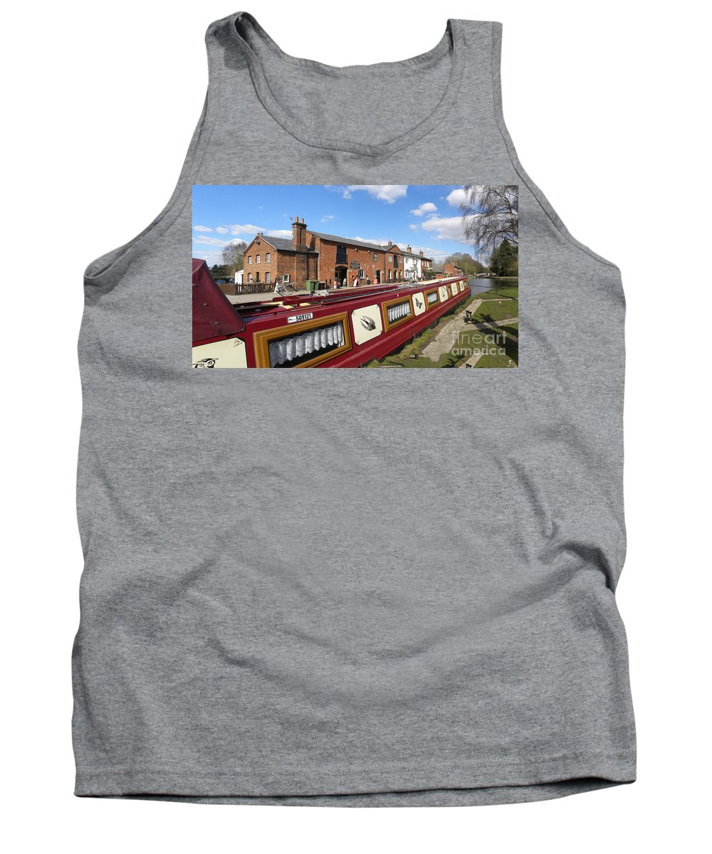 England Tank Top featuring the photograph Cottages At Fradley Junction by Neil Finnemore