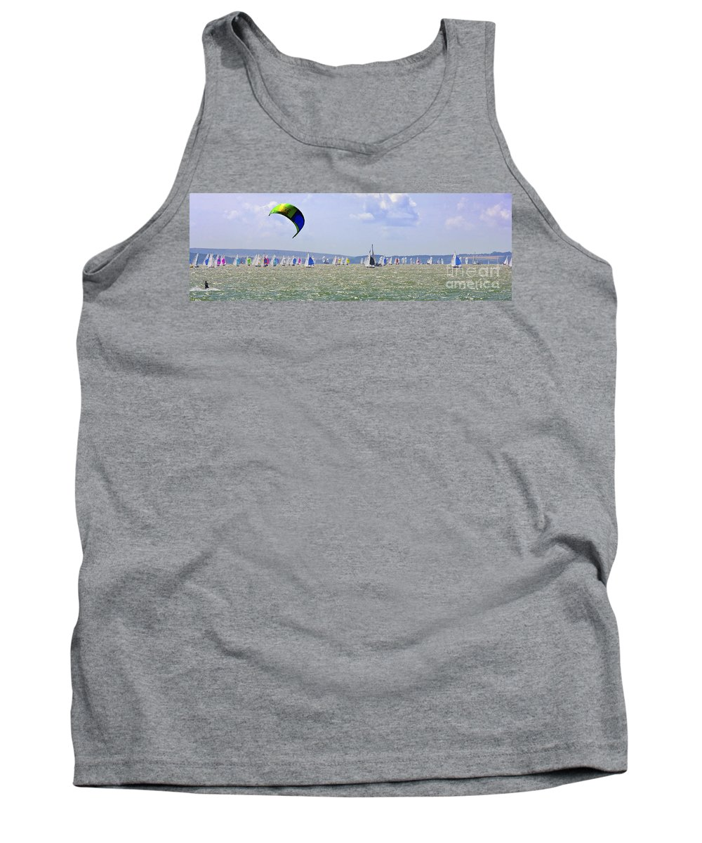 Solent Tank Top featuring the photograph Cowes Week Isle Of Wight by Terri Waters
