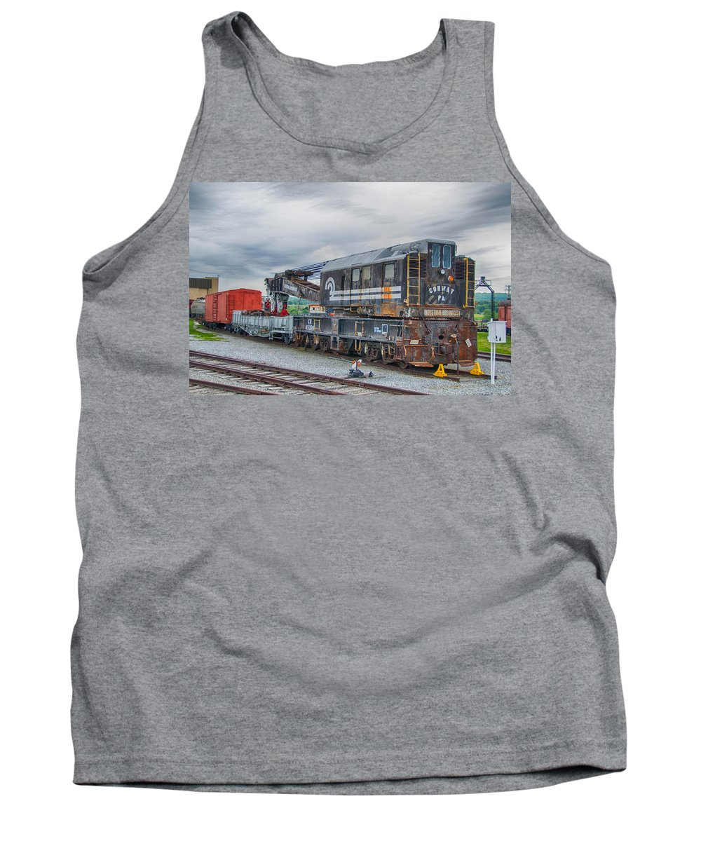 Guy Whiteley Photography Tank Top featuring the photograph Cr Crane 45210  7d02539h by Guy Whiteley