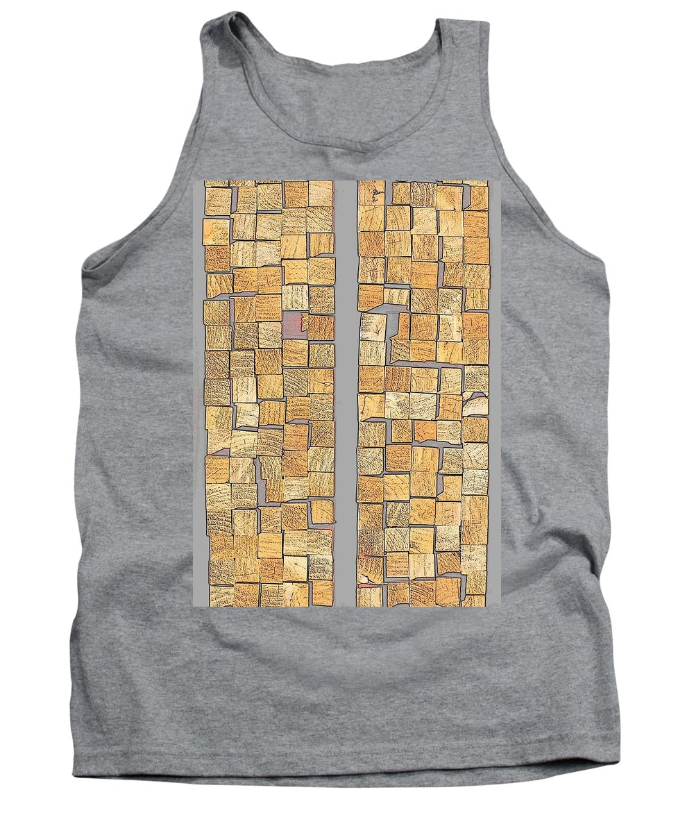 Hopper Tank Top featuring the photograph Crazy Paving by Guy Pettingell