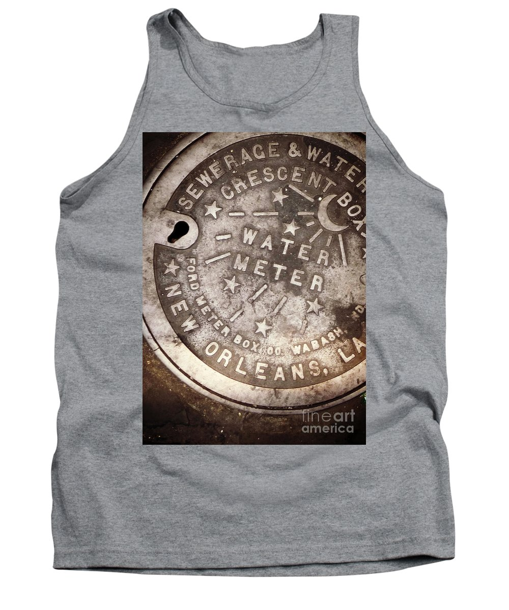 New Orleans Tank Top featuring the photograph Crescent City Water Meter by Valerie Reeves