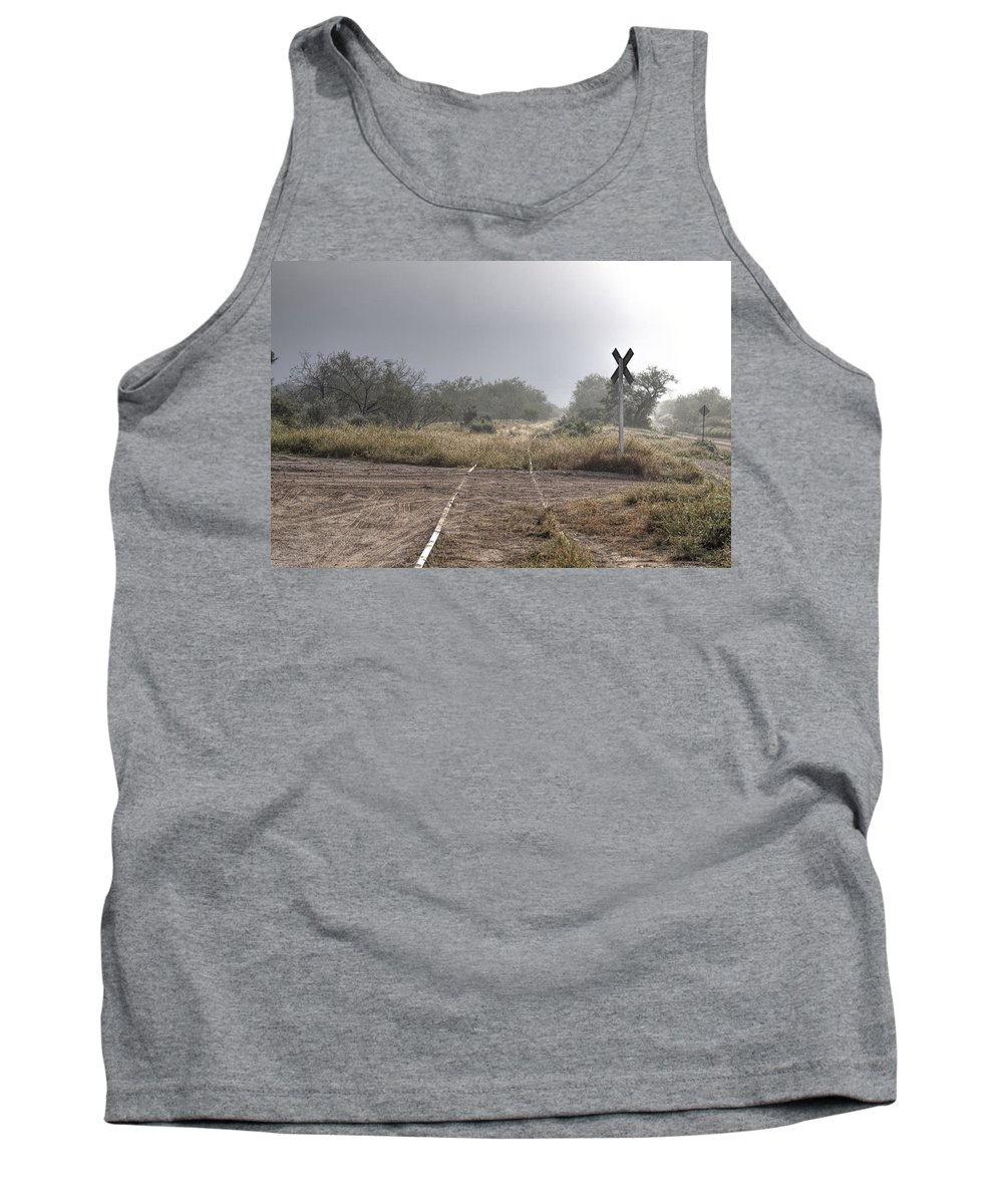 Train Track Tank Top featuring the photograph Crossing The Line by Samuel Nowell