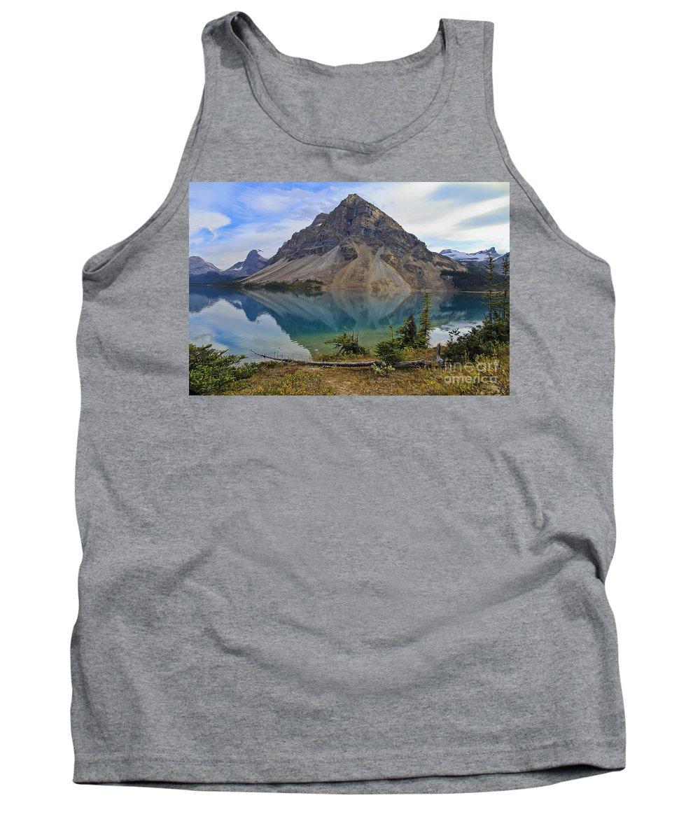 Crowfoot Mountain Tank Top featuring the photograph Crowfoot Mountain Banff Np by Teresa Zieba
