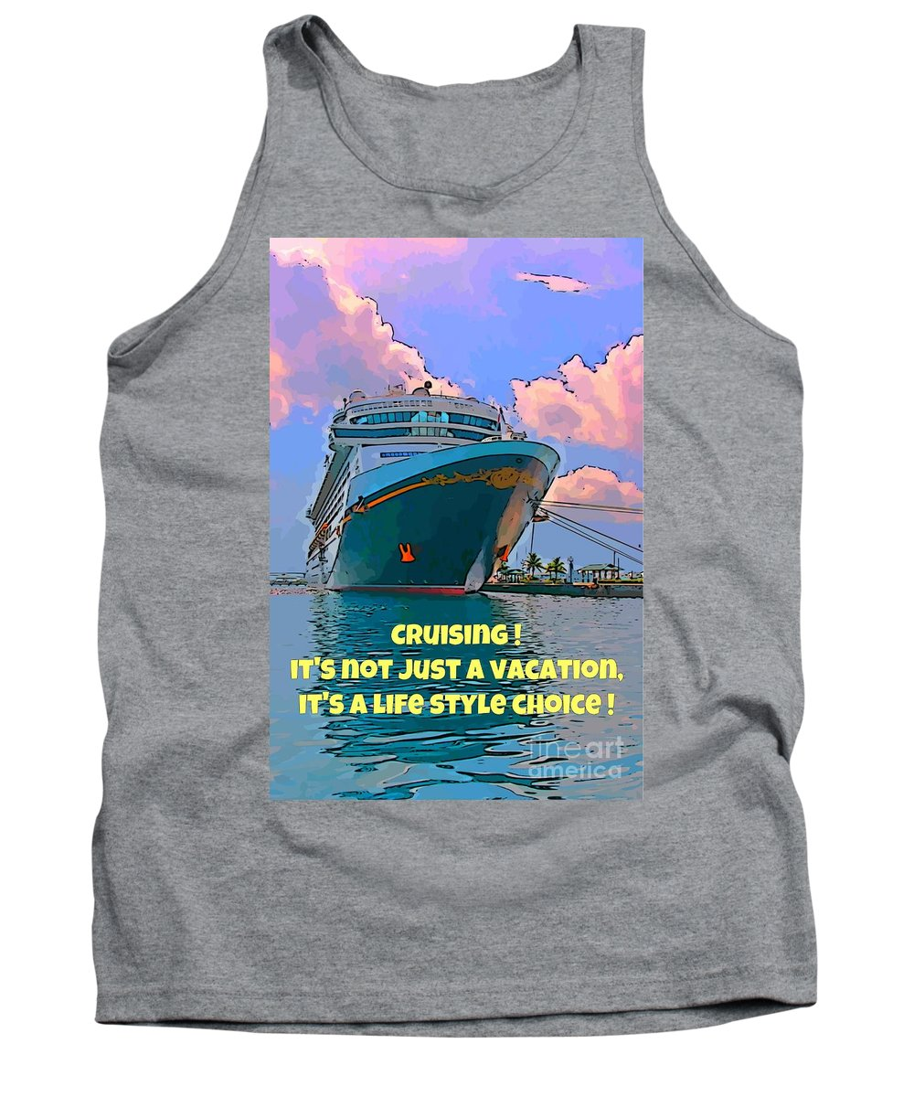 Cruise Ship In Port Tank Top featuring the photograph Cruise Ship In Port by John Malone