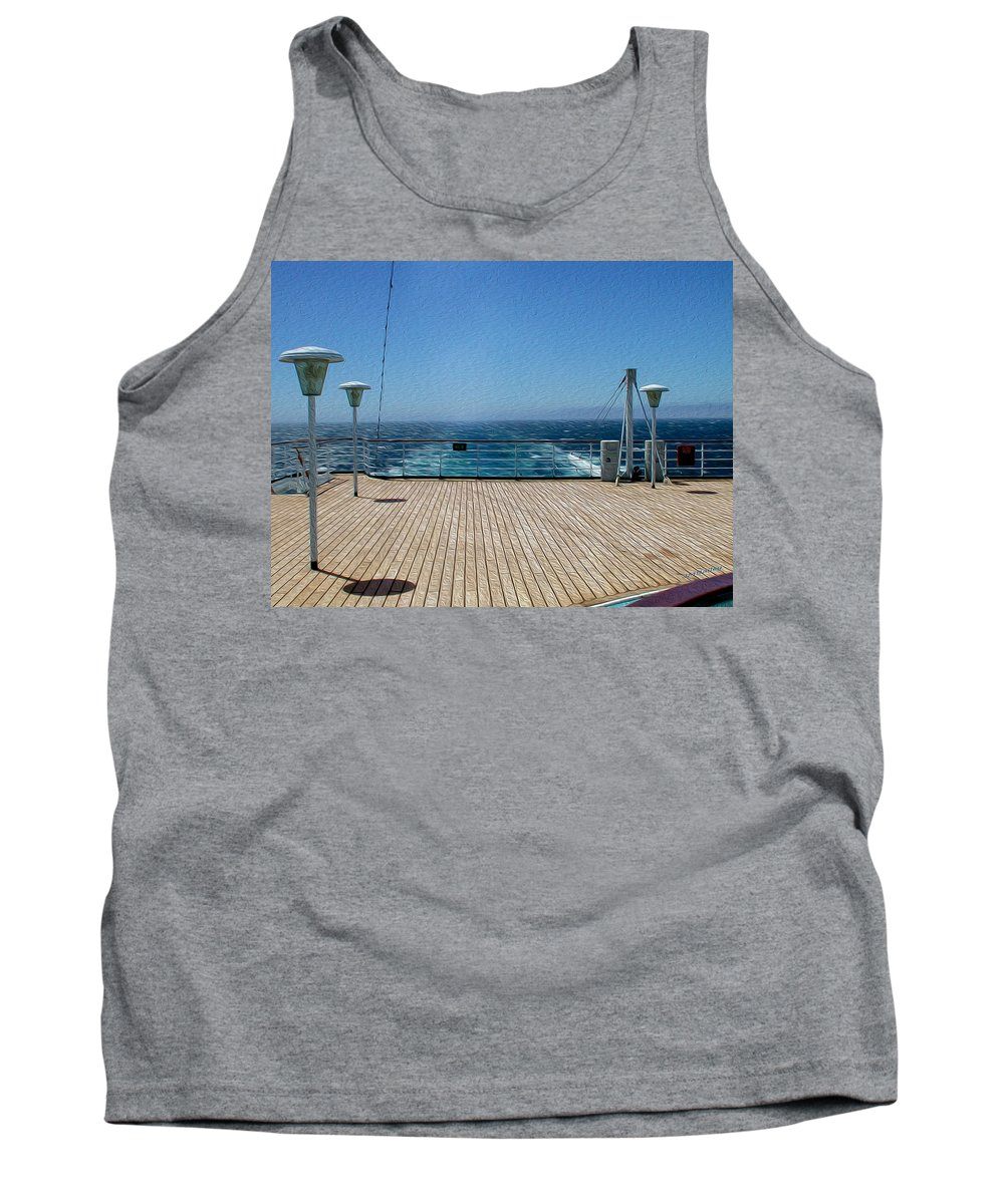 Sky Tank Top featuring the photograph Cruising The Pacific by John M Bailey