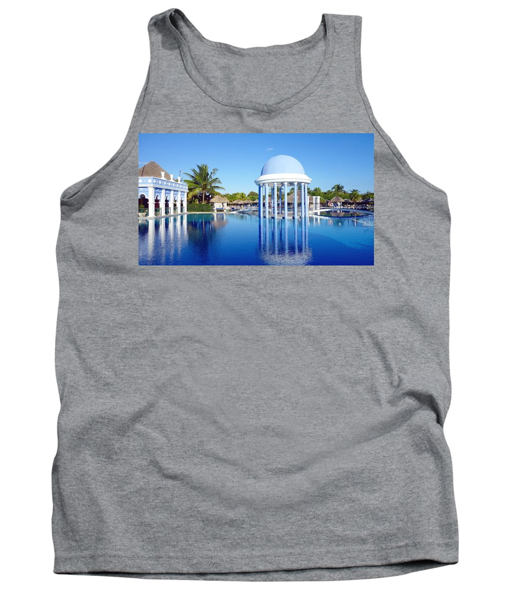 Cuba Tank Top featuring the photograph Cuban Resort by Valentino Visentini