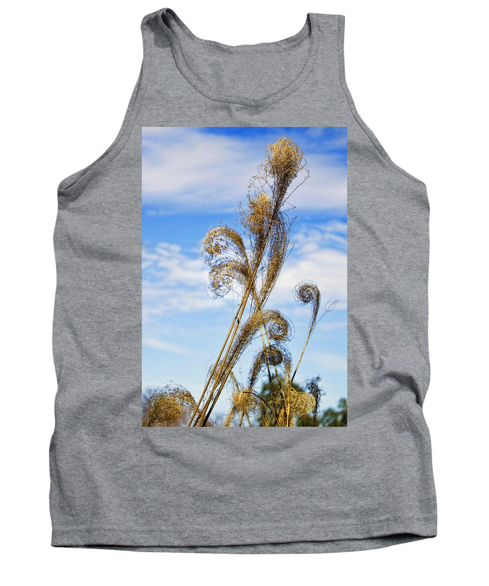 Southwest Tank Top featuring the photograph Curled Grasses by Brian King