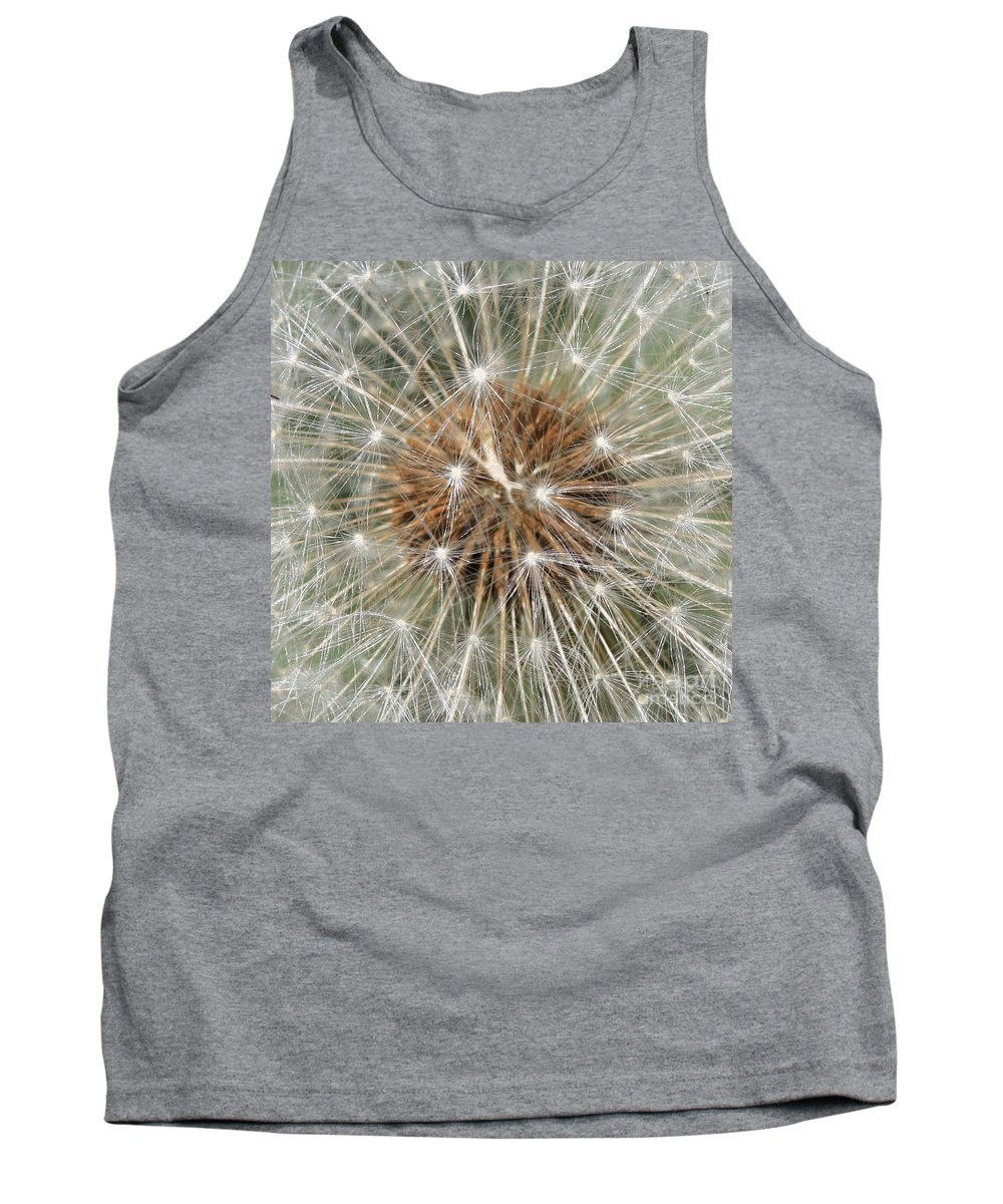 Dandelion Tank Top featuring the photograph Dandelion Square by Carol Groenen