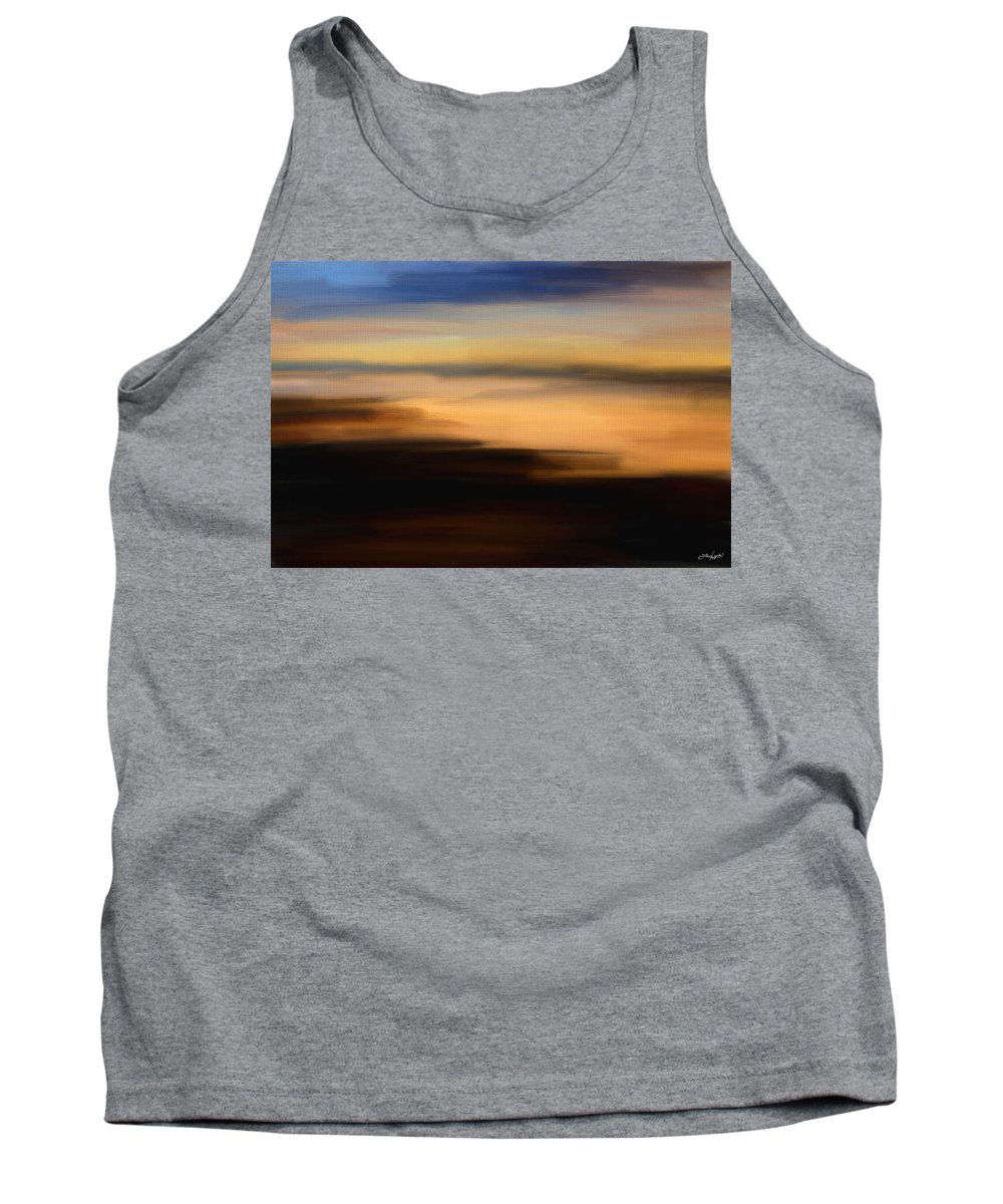 Seascapes Abstract Tank Top featuring the digital art Darkness Dreams by Lourry Legarde