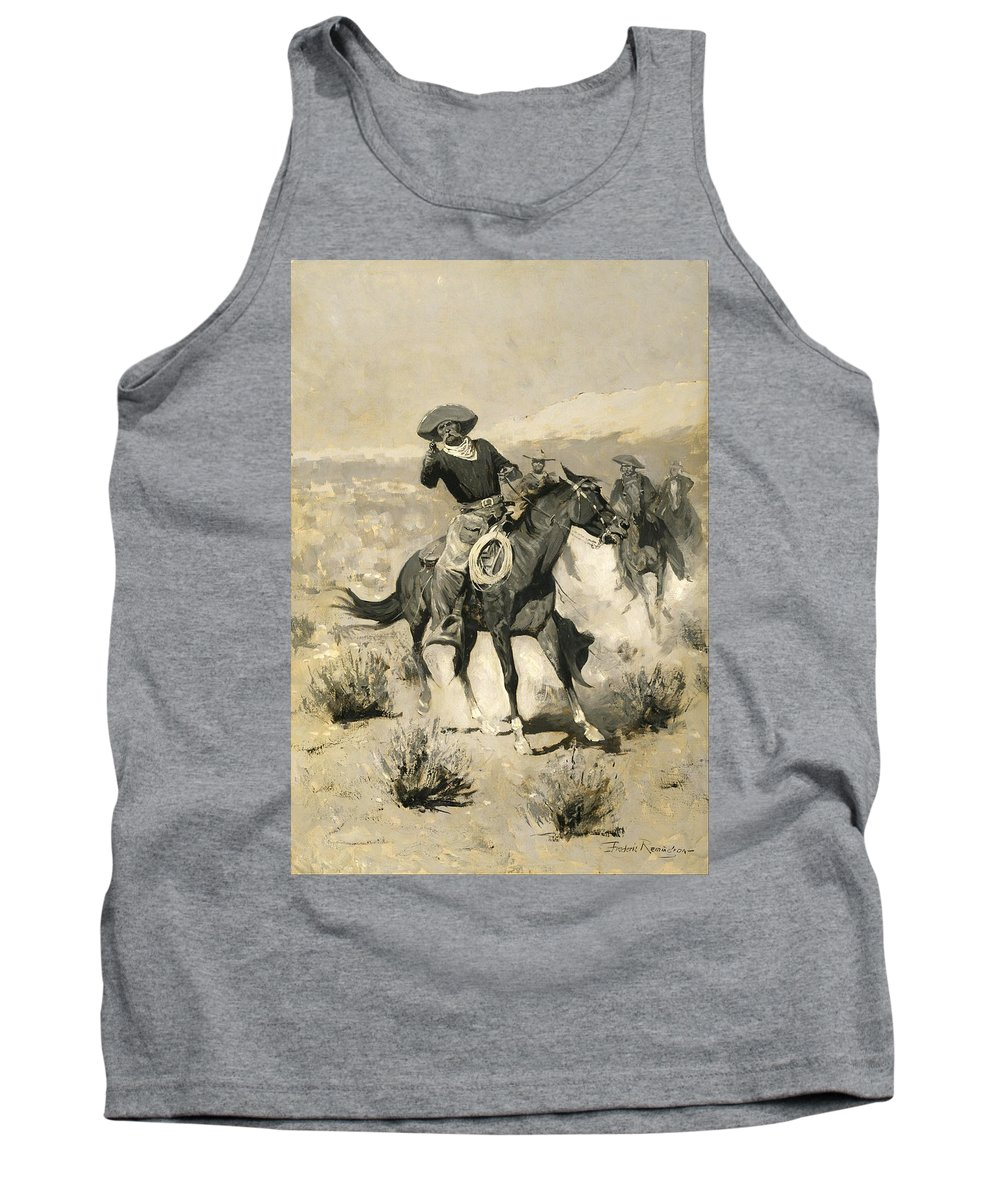 Frederic Remington Tank Top featuring the painting Days On The Range by Frederic Remington