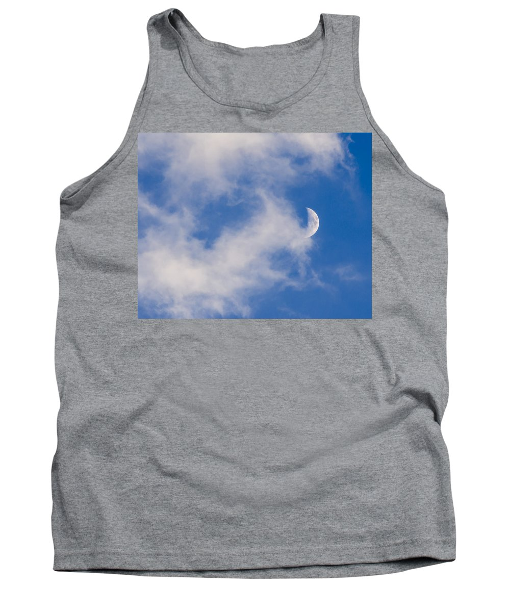 Day Tank Top featuring the photograph Daytime Moon by Carolyn Marshall