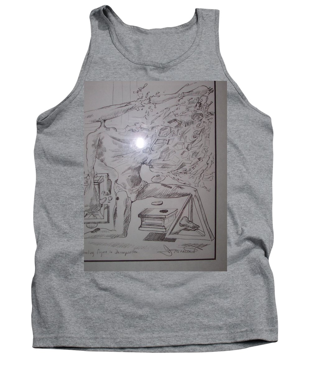Tank Top featuring the painting Decomposition Of Kneeling Man by Jude Darrien