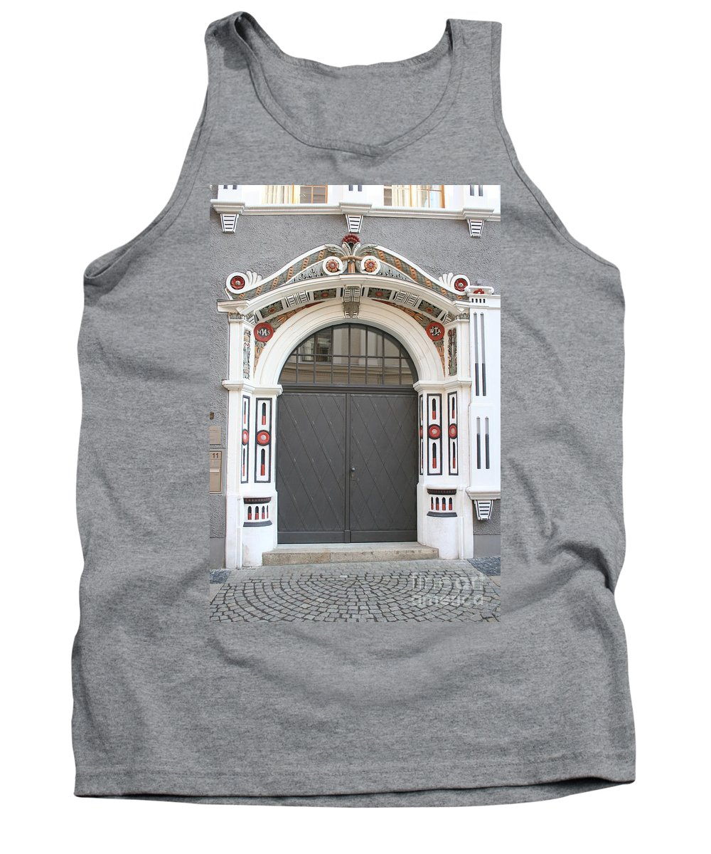 Door Tank Top featuring the photograph Decorated Old Door by Christiane Schulze Art And Photography
