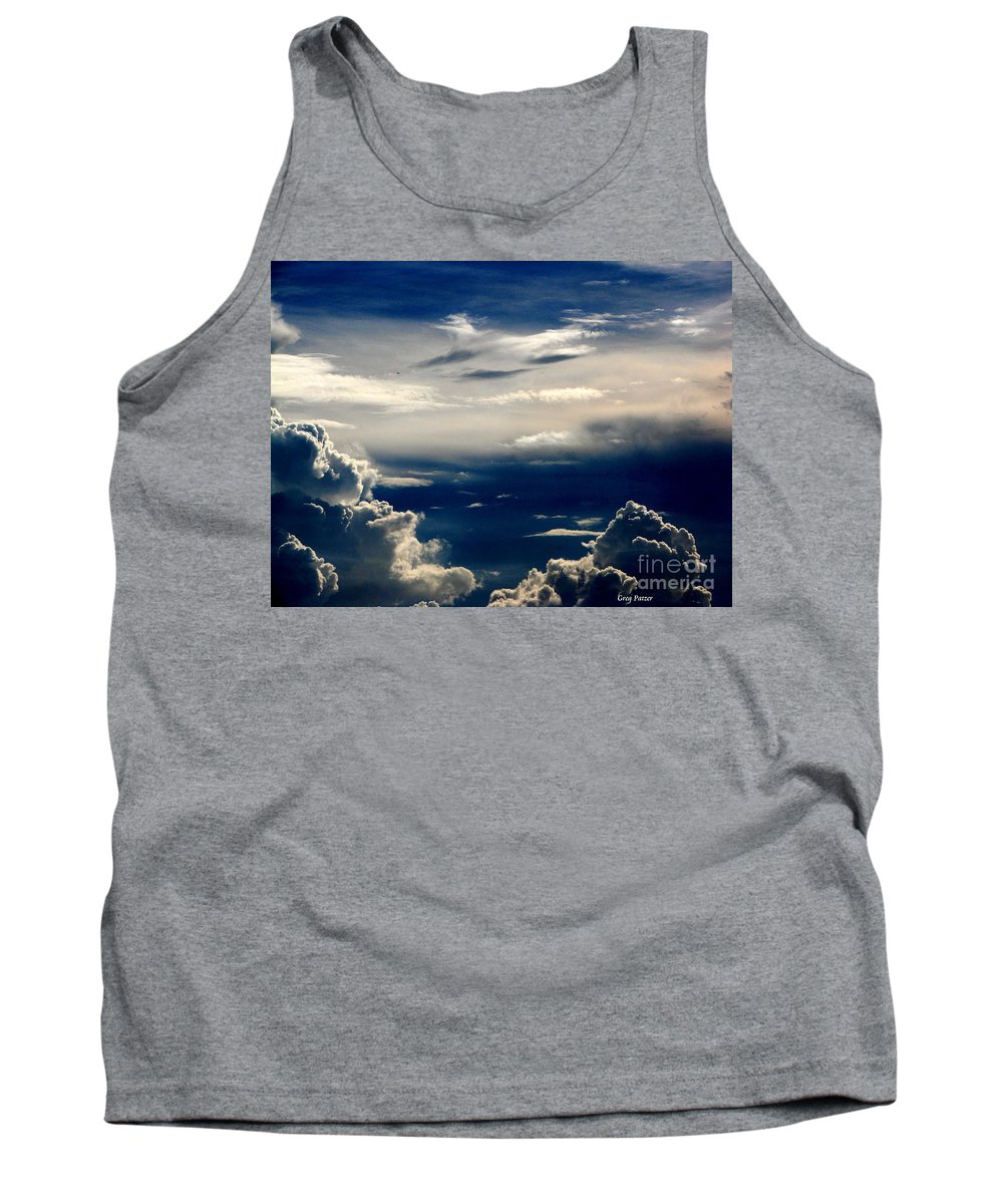 Art For The Wall...patzer Photography Tank Top featuring the photograph Deep Blue by Greg Patzer