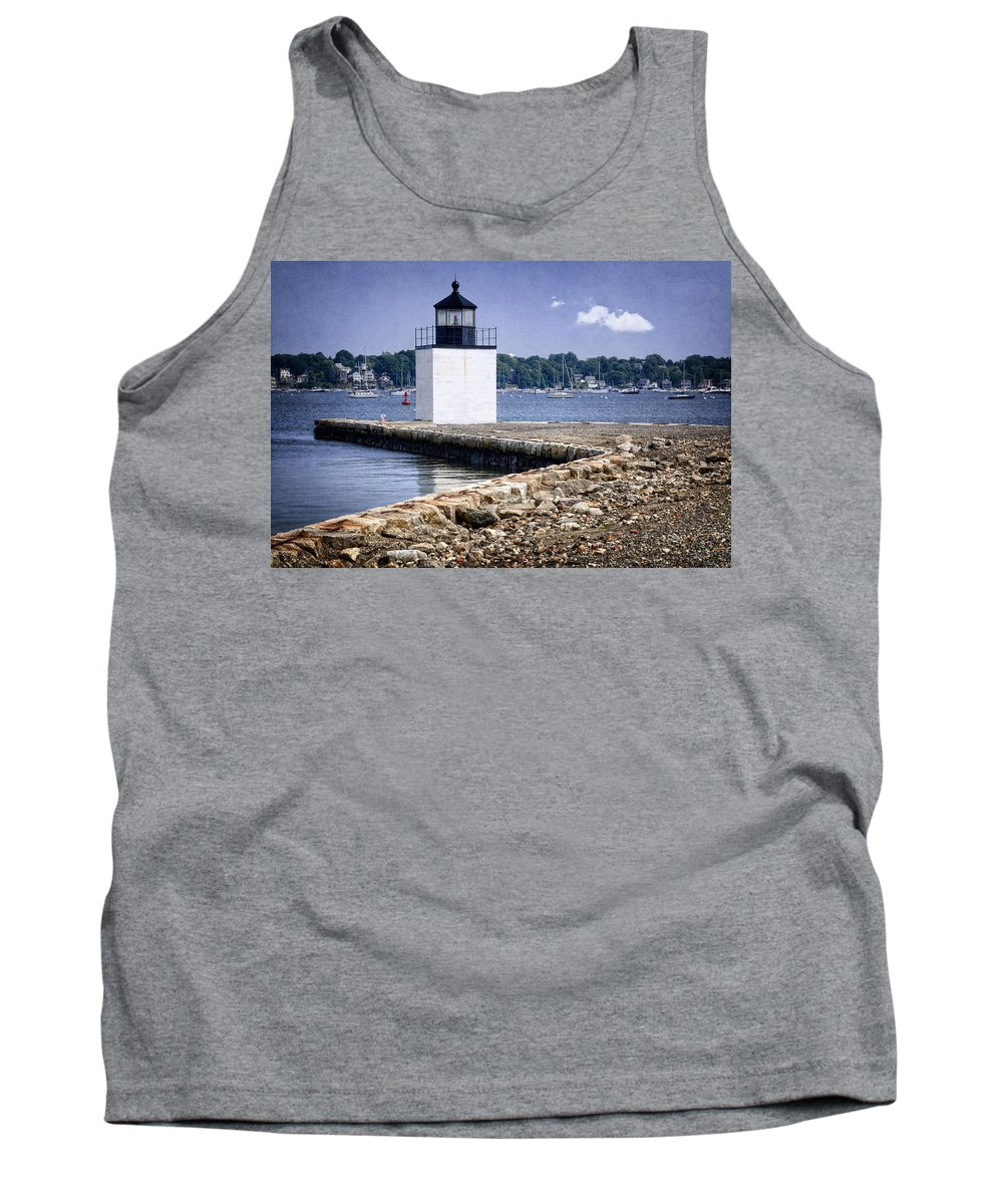 Derby Tank Top featuring the photograph Derby Wharf Light by Joan Carroll