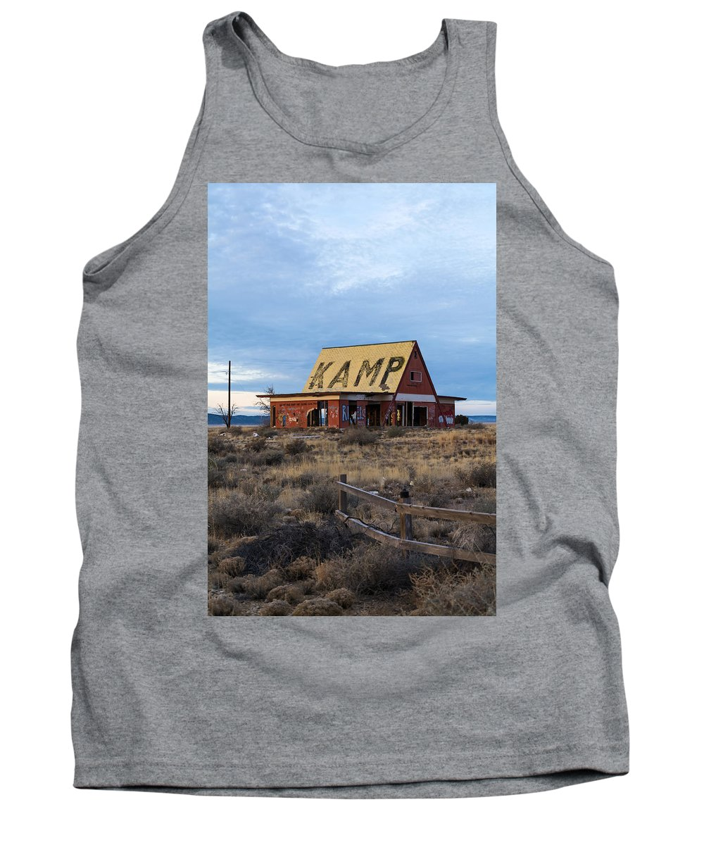 Buildings Tank Top featuring the photograph Deserted Ground by Robert VanDerWal