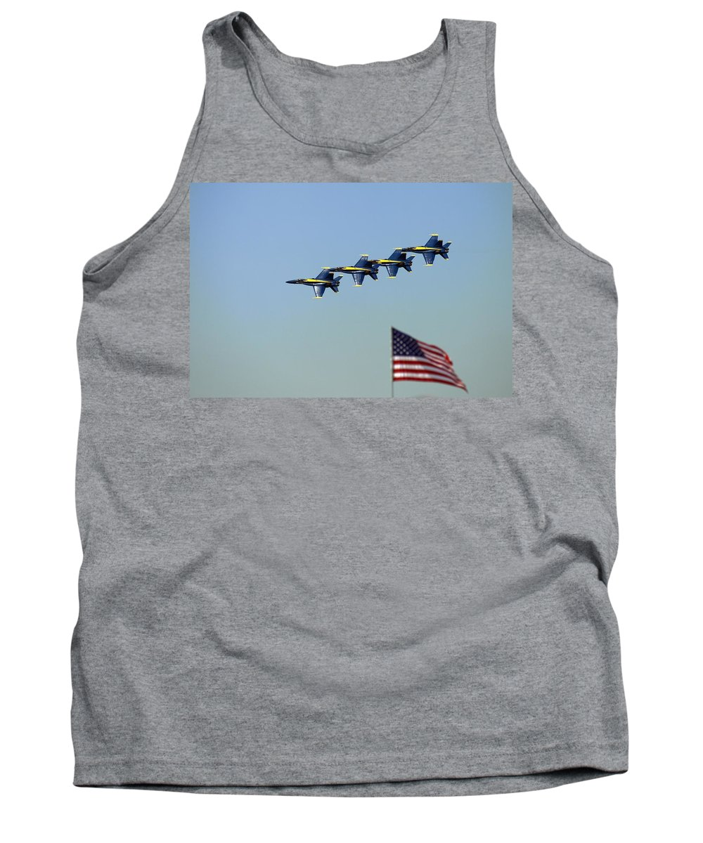 5002 Tank Top featuring the photograph Diamond Over The Flag by Gordon Elwell
