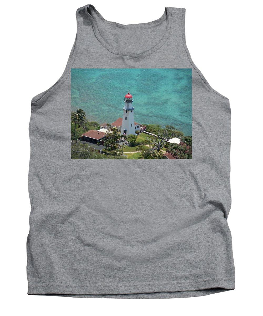 Diamondhead Tank Top featuring the photograph Diamondhead Lighthouse by Mike Niday