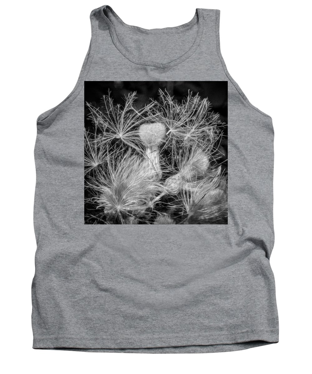 Flowers Tank Top featuring the photograph Ditch Party 2 Bw by Steve Harrington