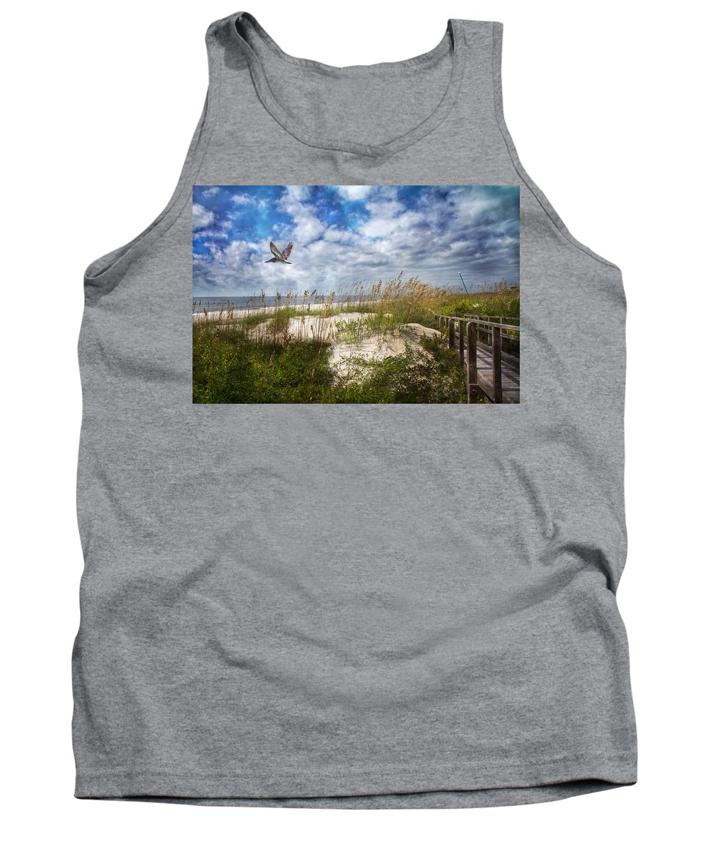 Oak Tank Top featuring the photograph Divine Beach Day by Betsy Knapp