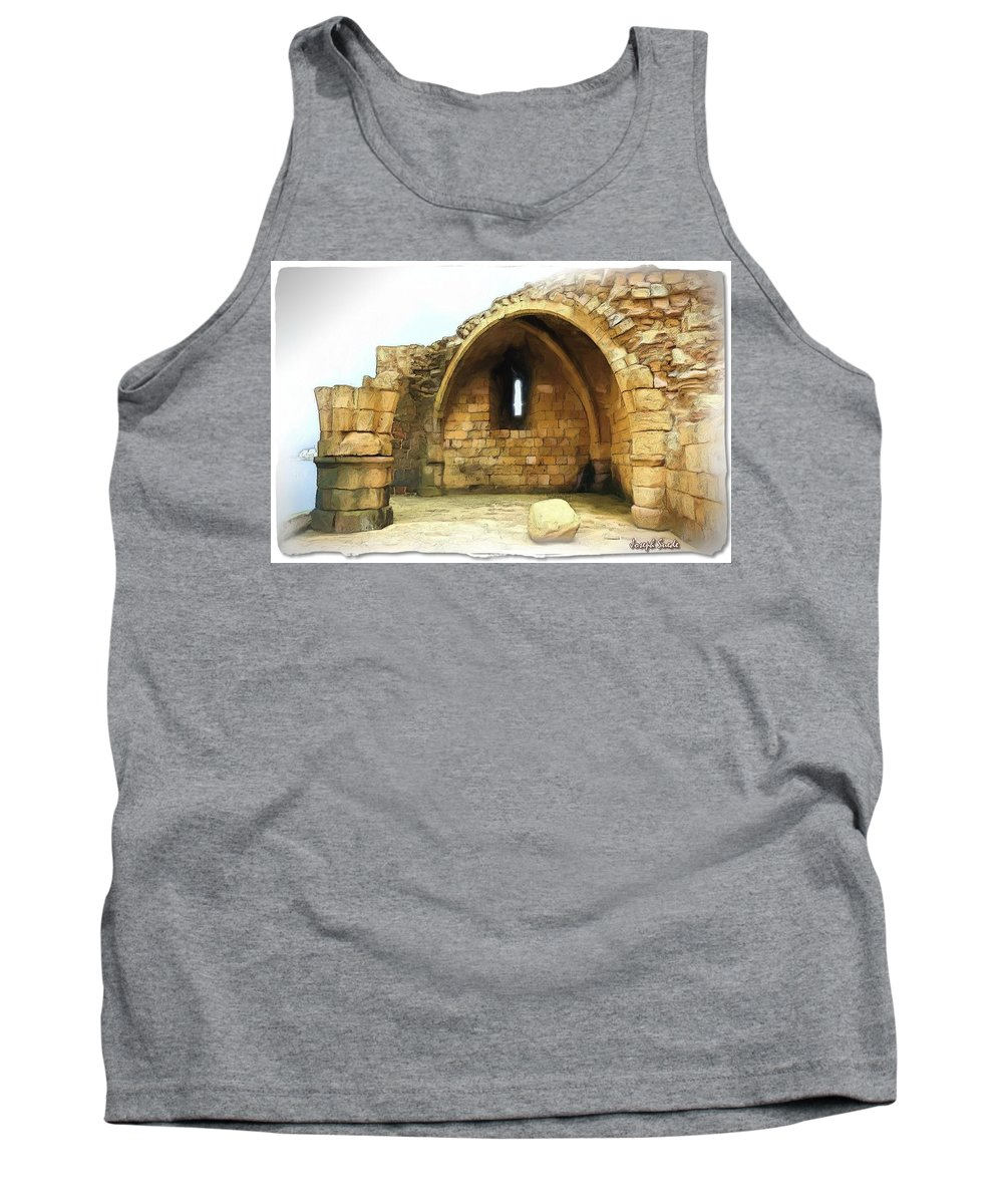 Citadel Tank Top featuring the photograph Do-00427 Citadel Of Sidon by Digital Oil