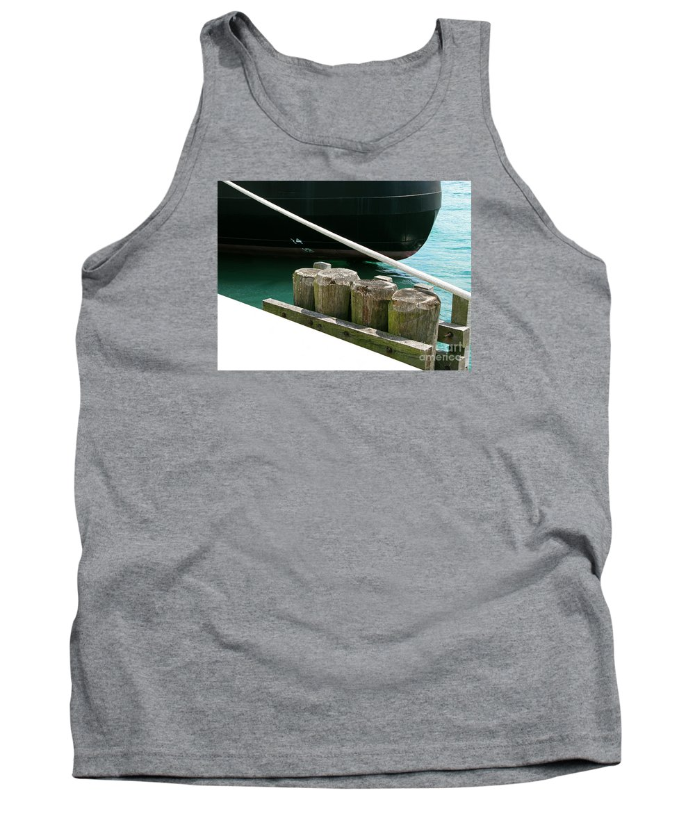 Ship Tank Top featuring the photograph Docked by Ann Horn