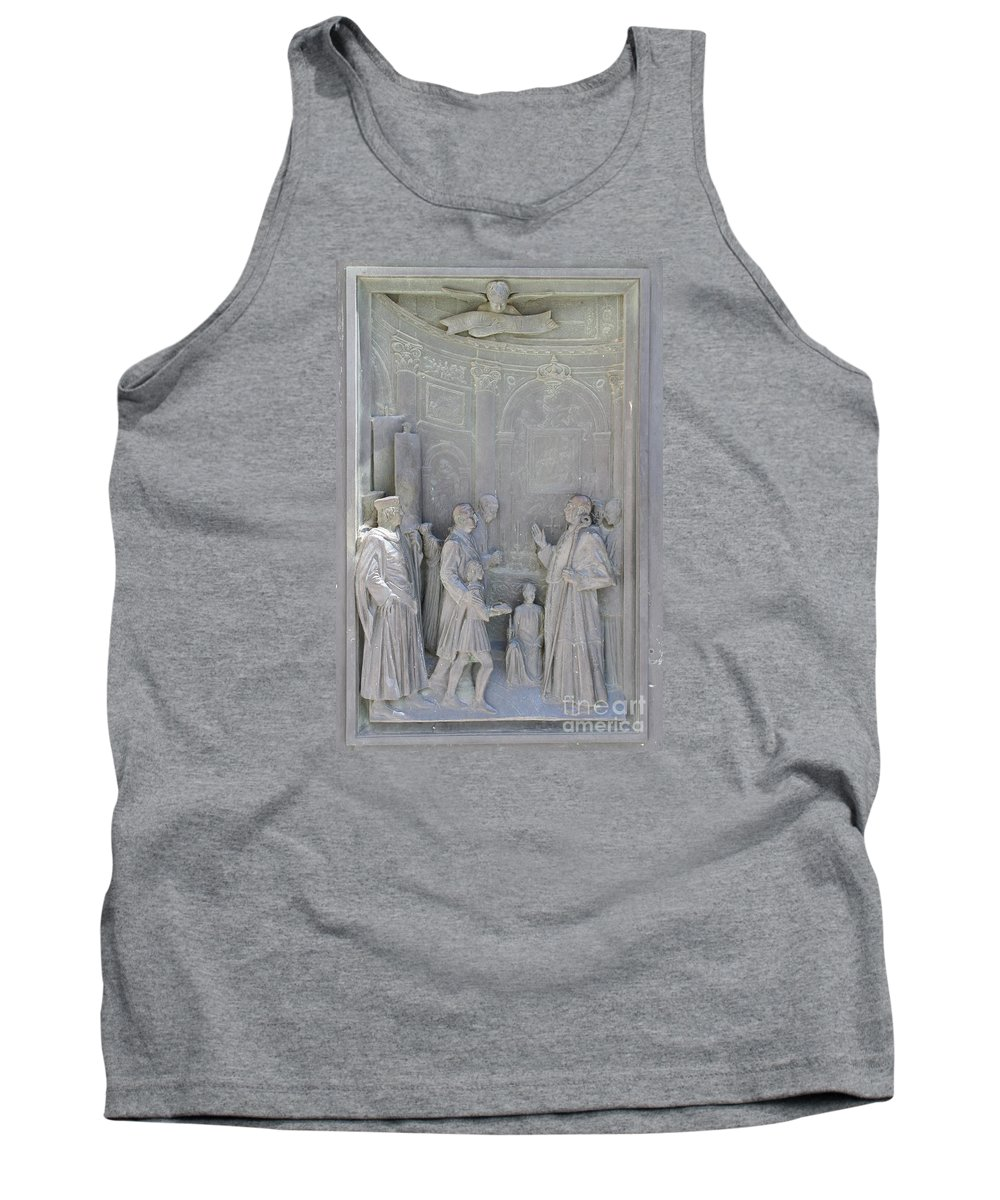 Relief Tank Top featuring the photograph Door Detail Cathedral Siena by Christiane Schulze Art And Photography