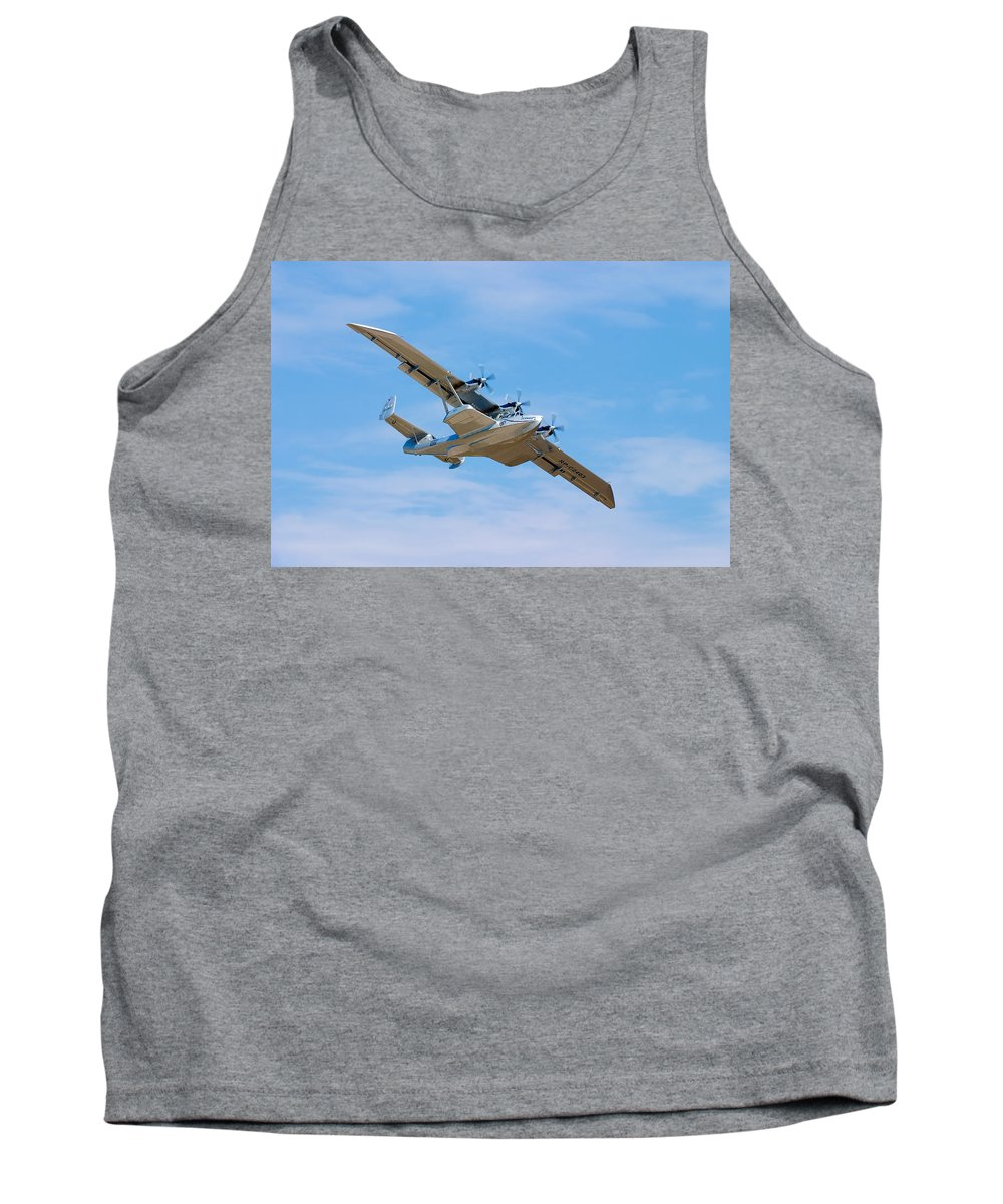 3scape Tank Top featuring the photograph Dornier Do-24 by Adam Romanowicz