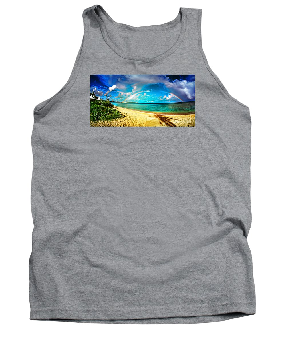 Rainbow Tank Top featuring the photograph Double Bow by Tim Rock