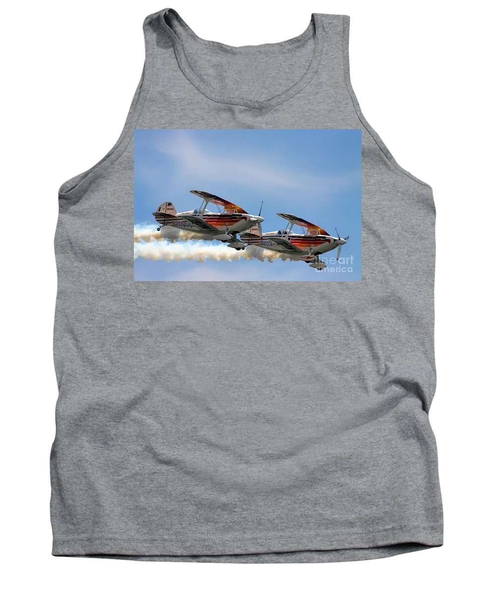 Iron Eagle Tank Top featuring the photograph Double Iron Eagles by Rick Kuperberg Sr
