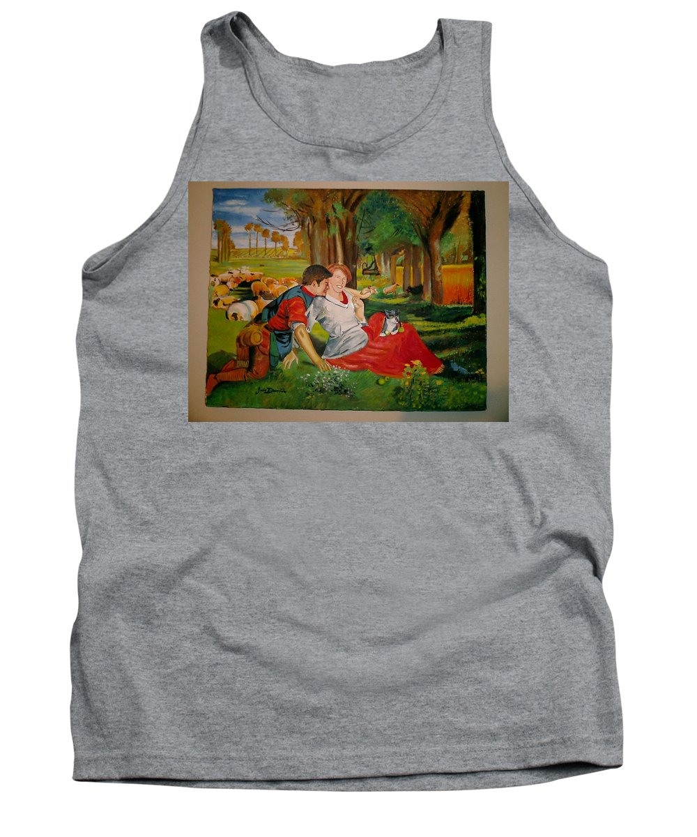 Tank Top featuring the painting double portrait of freinds Gunner and Jessie by Jude Darrien