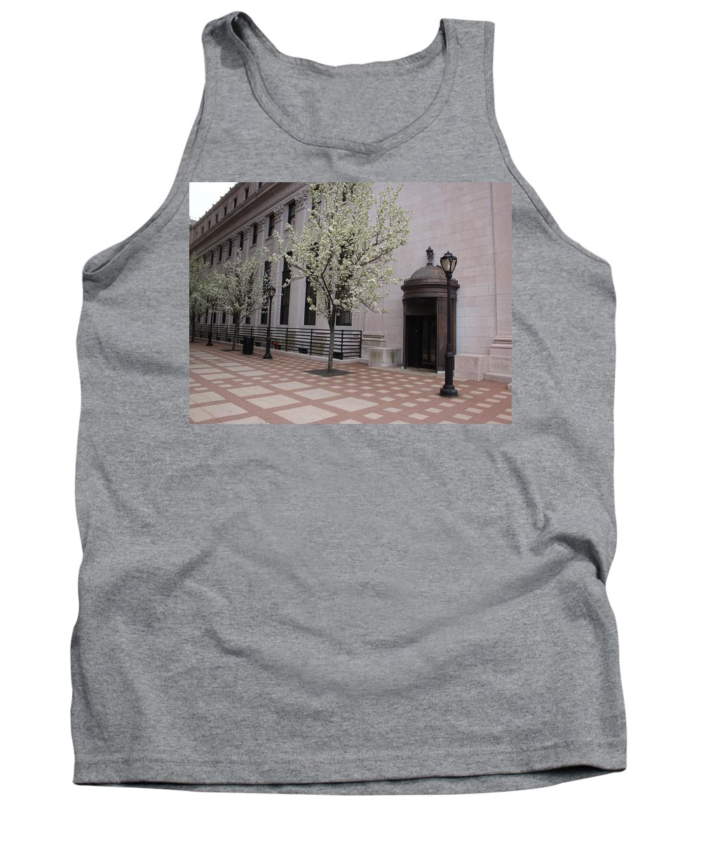 Pattern Tank Top featuring the photograph Downtown New Haven Connecticut by Kim Chernecky
