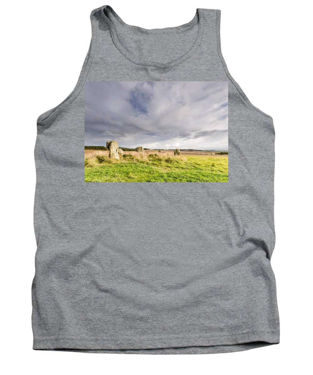 Northumberland Tank Top featuring the photograph Duddo Stone Circle by David Head