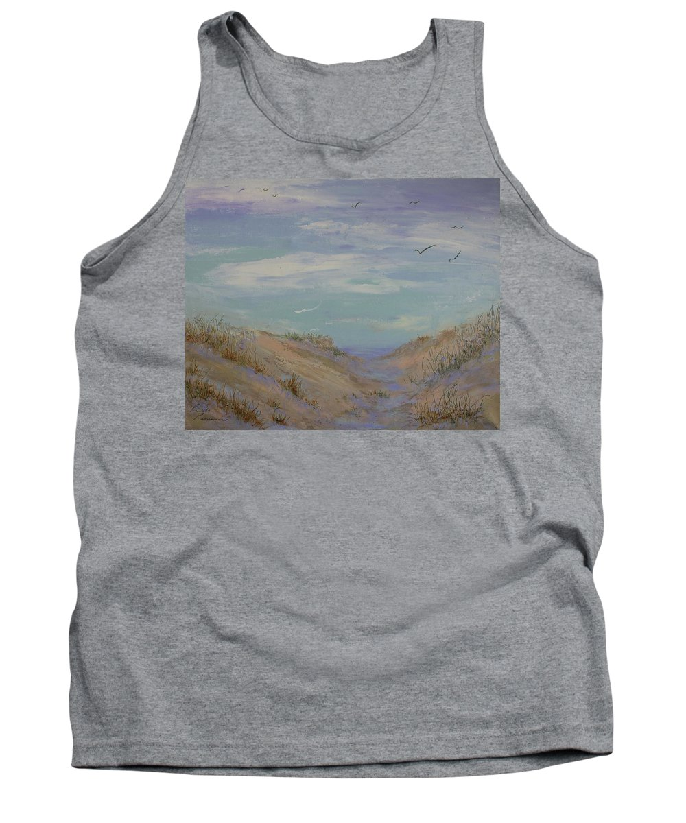 Sand Dunes Tank Top featuring the painting Dune by Ruth Kamenev