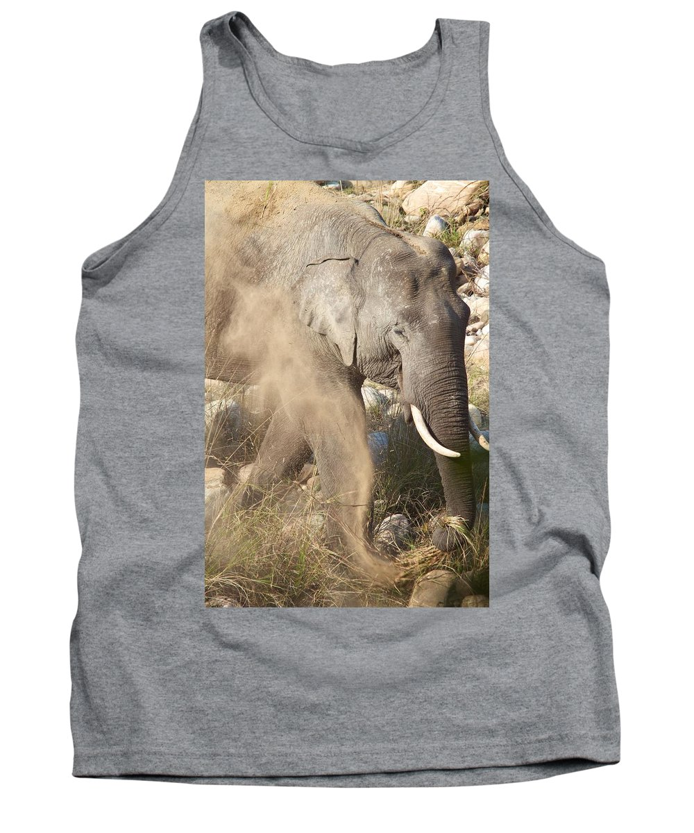 India Tank Top featuring the photograph Dusting Off Dinner by David Beebe