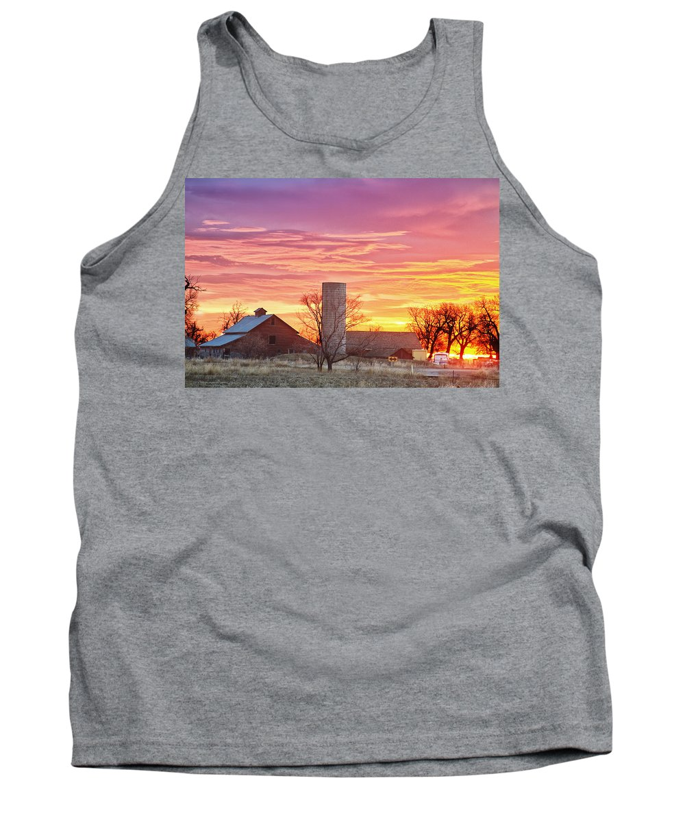 Early Tank Top featuring the photograph Early Country Morning Sunrise by James BO Insogna