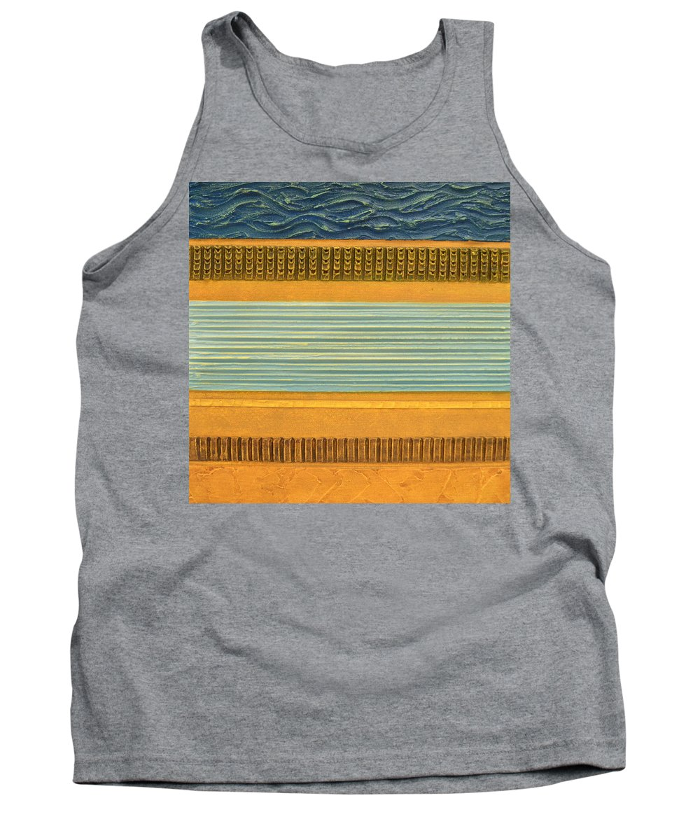 Abstract Tank Top featuring the painting Earth Layers Abstract Ll by Michelle Calkins