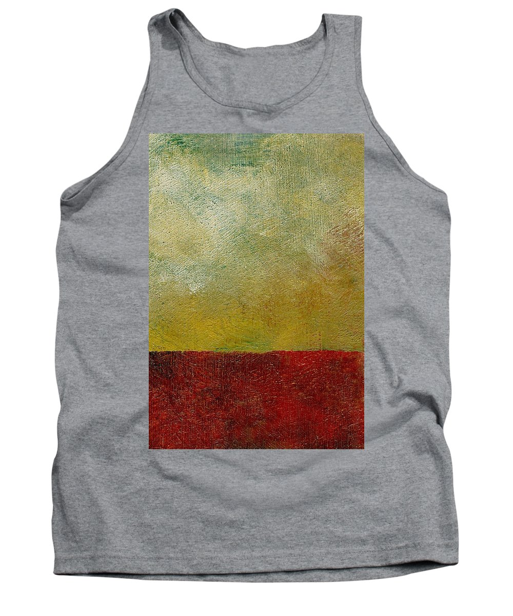 Abstract Landscape Tank Top featuring the painting Earth Study One by Michelle Calkins