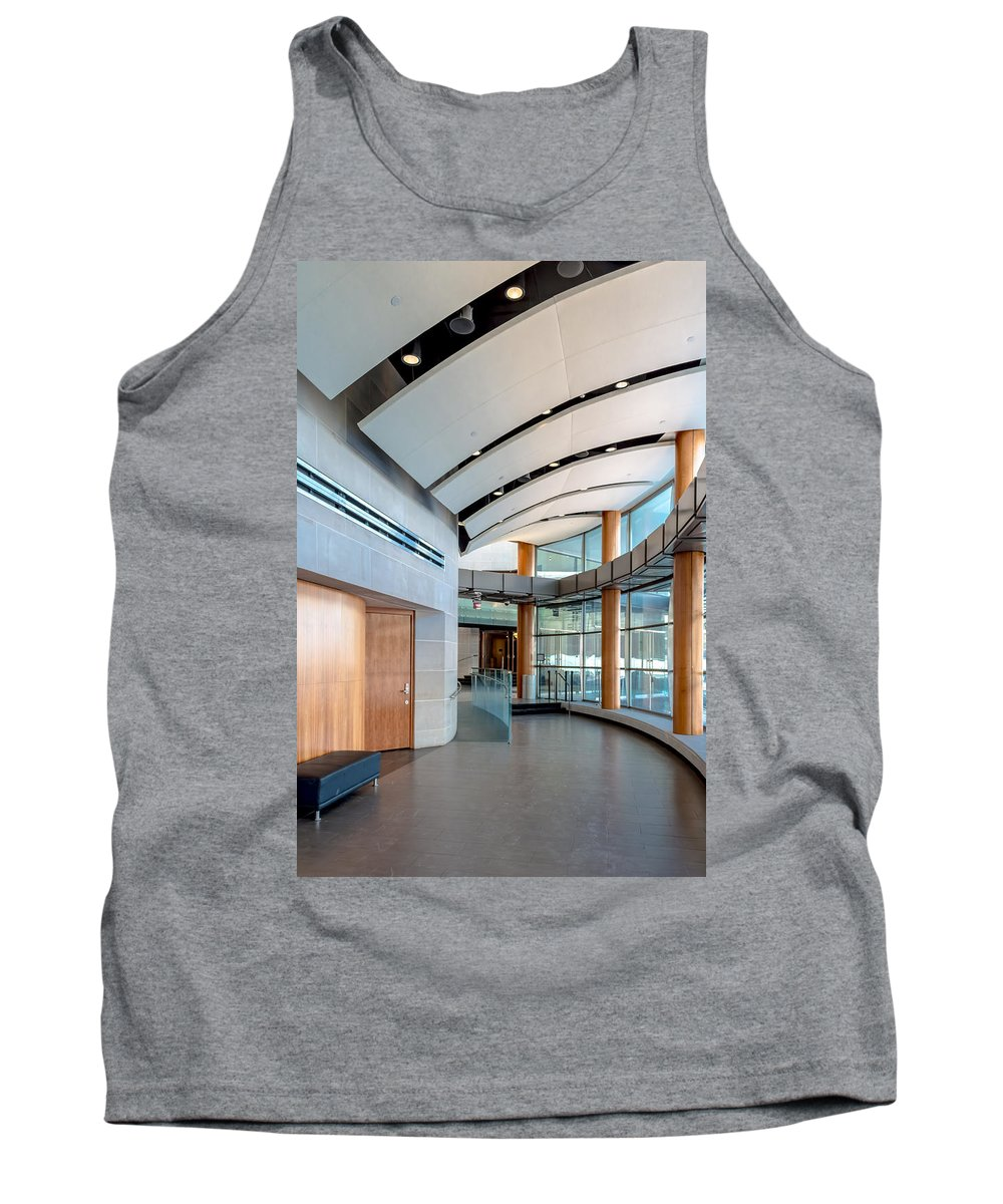 New York Tank Top featuring the photograph Eastman School Of Music Front Hall by Ray Sheley