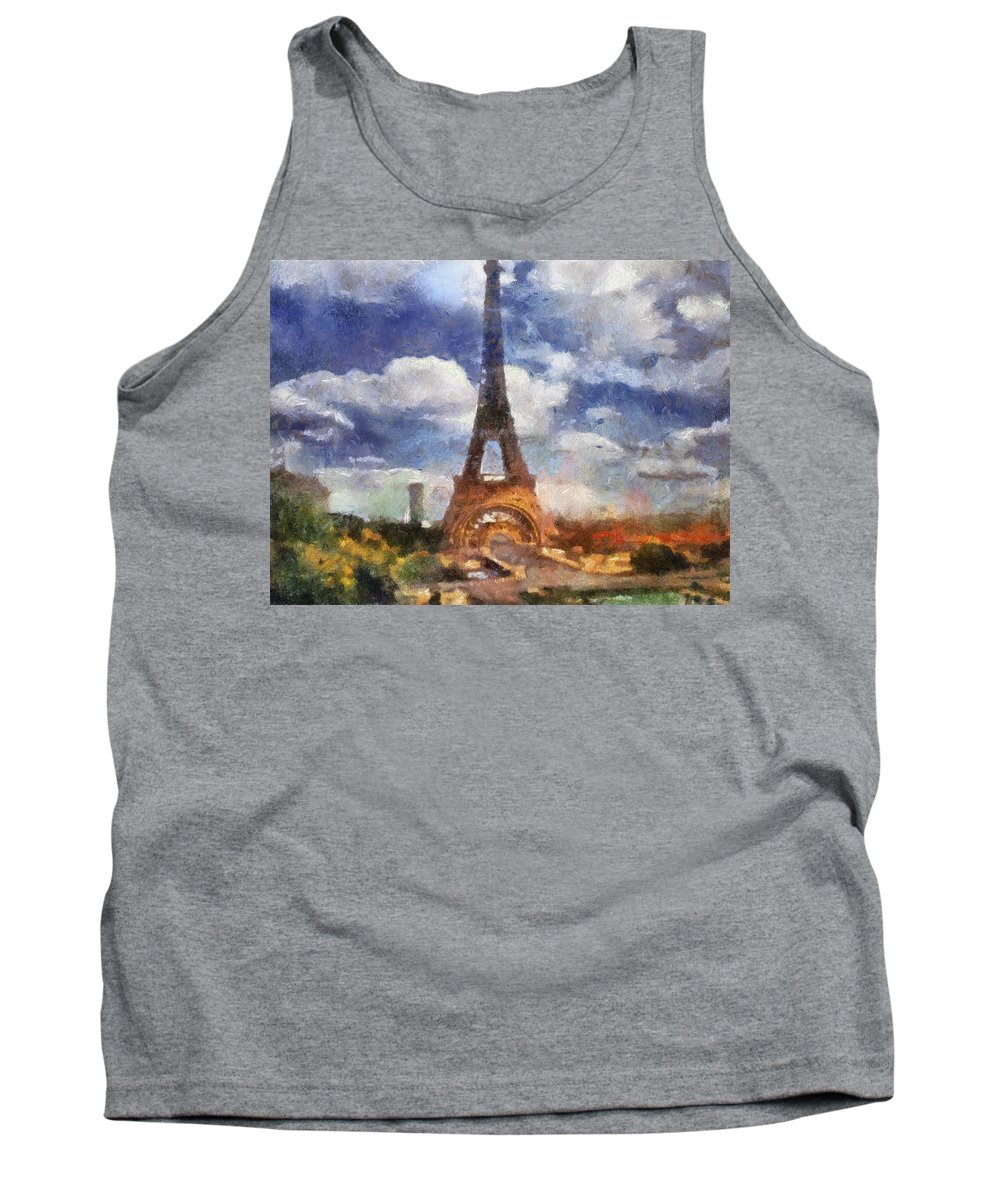 Eifel Tank Top featuring the photograph Eifel Tower Photo Art 02 by Thomas Woolworth
