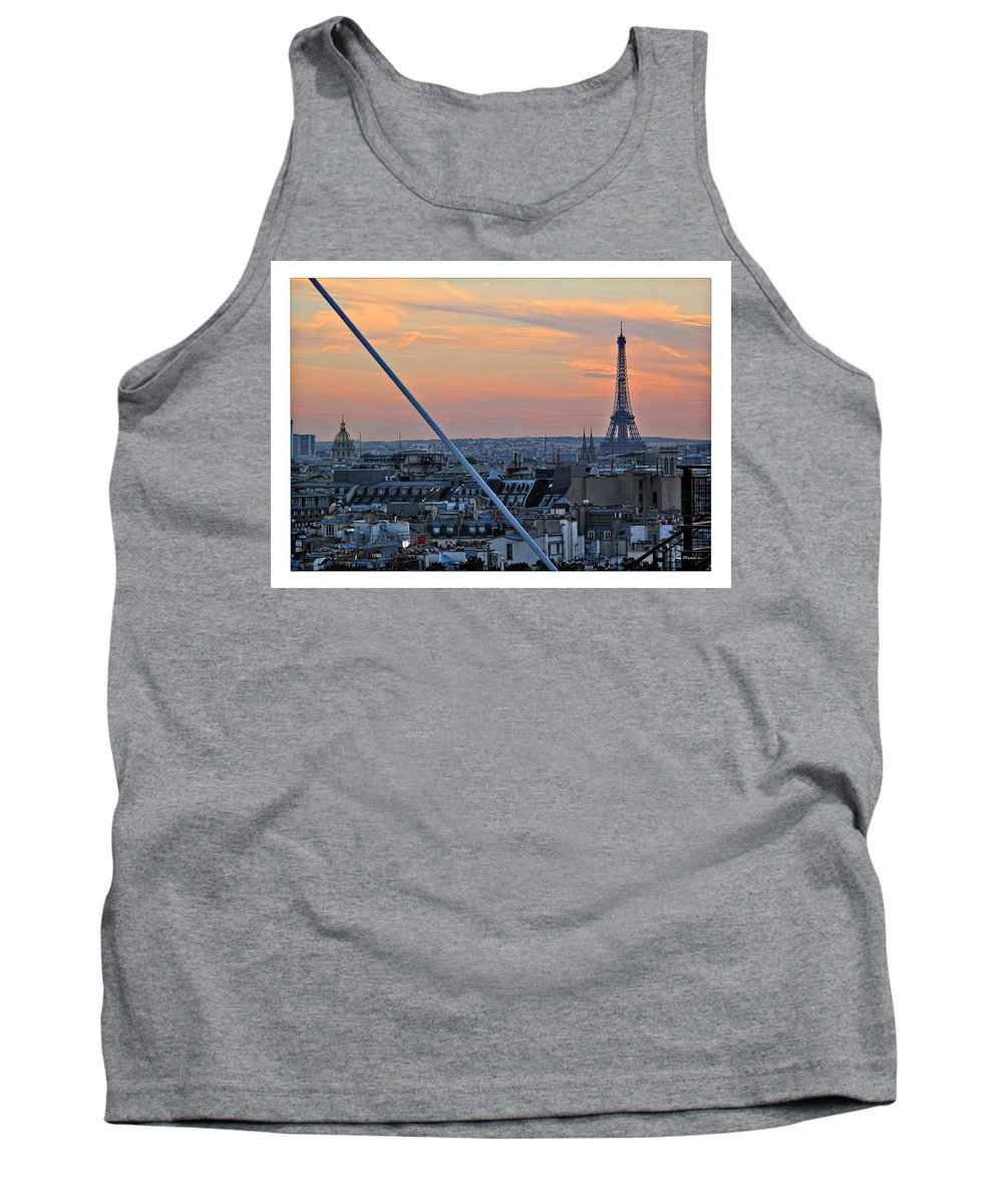Eiffel Tank Top featuring the photograph Eiffel Tower From Above by Joan Minchak