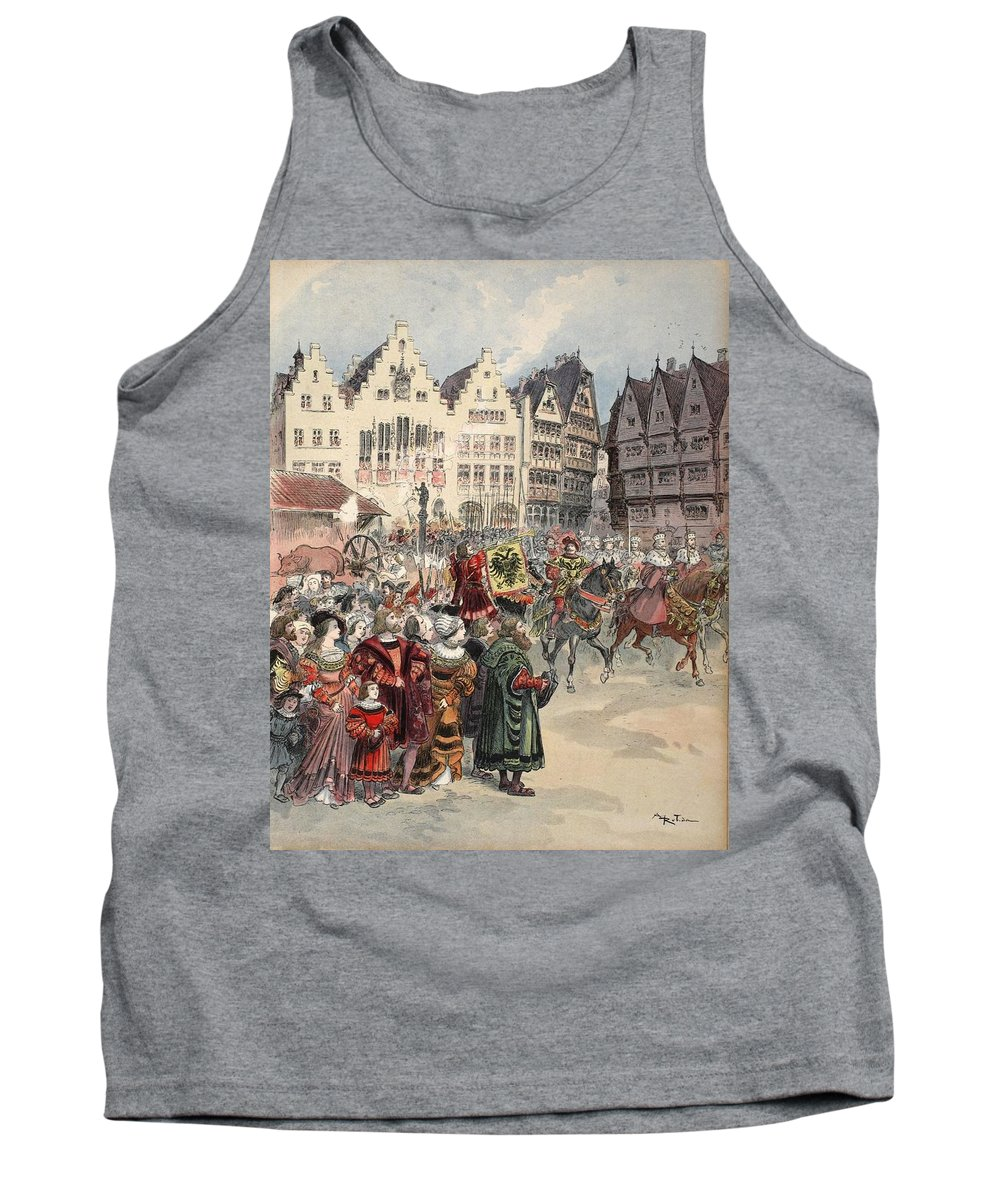 Ruler Tank Top featuring the drawing Election To The Empire The Procession by Albert Robida