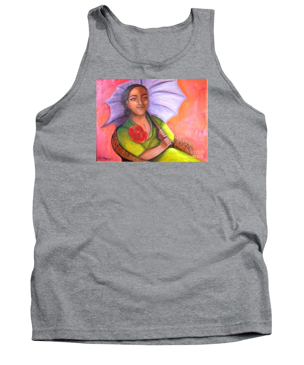 Rose Tank Top featuring the painting Enchanted Rose by Laurie Morgan